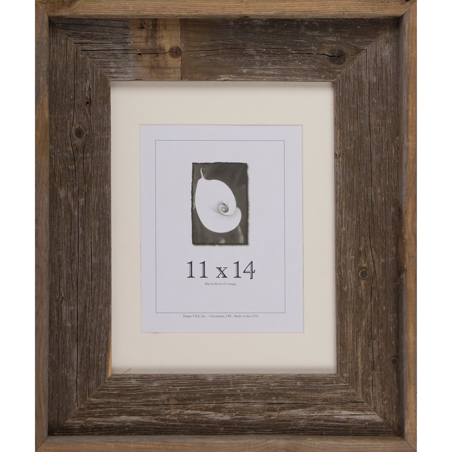 Frame USA Barnwood Signature Series Grey/White Wood Picture Frame ...