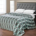 Ultra Plush Double Brushed Geometric Print Micro Fleece Blanket