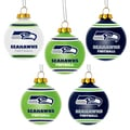 Forever Collectibles Seattle Seahawks Shatterproof Ball Ornament Set