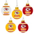 Forever Collectibles Kansas City Chiefs Shatterproof Ball Ornament Set
