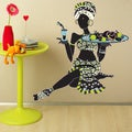 African Woman with Fruits Vinyl Mural Wall Decal