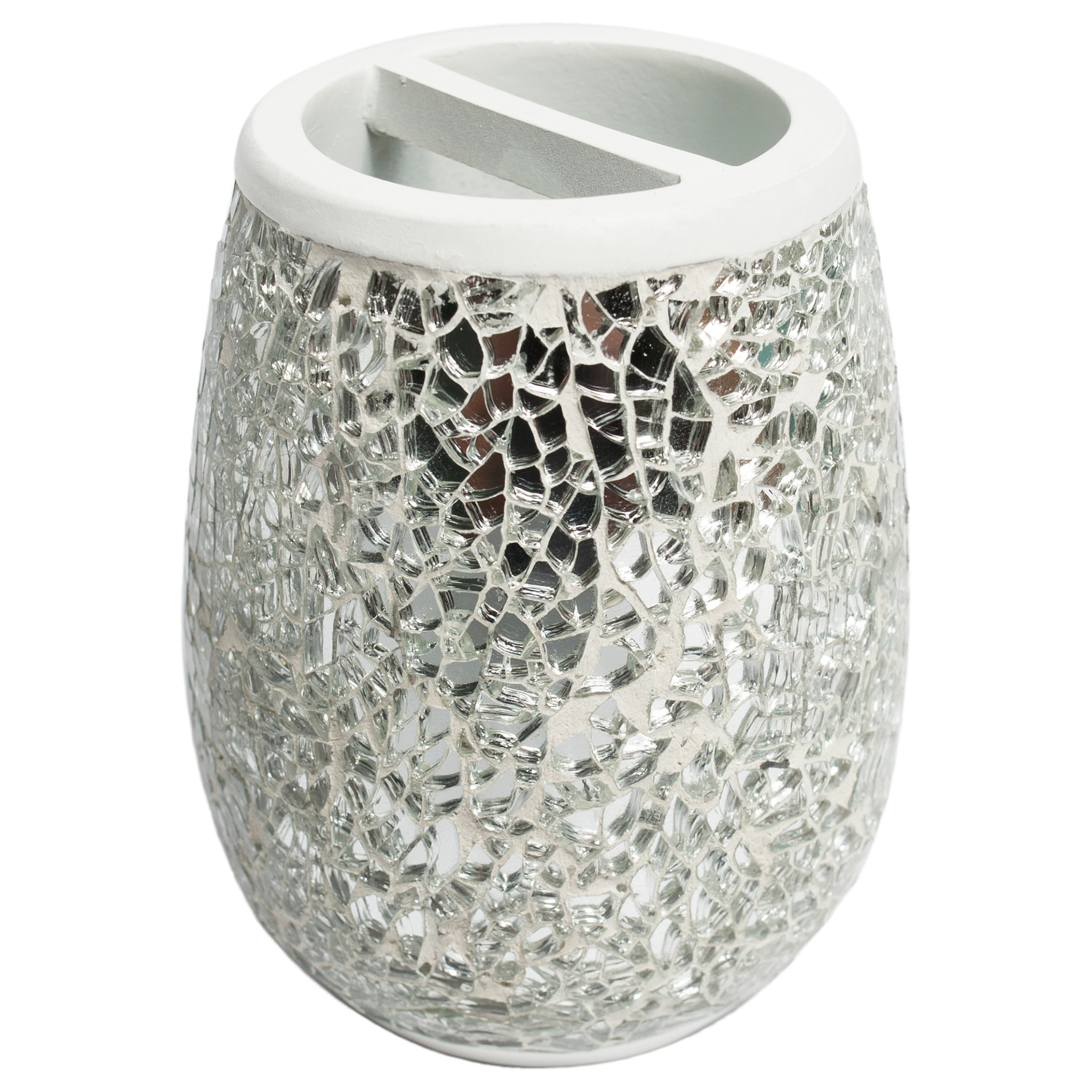 Silver cracked glass and ivory hand crafted bath accessory silver cracked glass and ivory hand crafted bath accessory collection free shipping on orders over 45 overstock 17856322 reviewsmspy