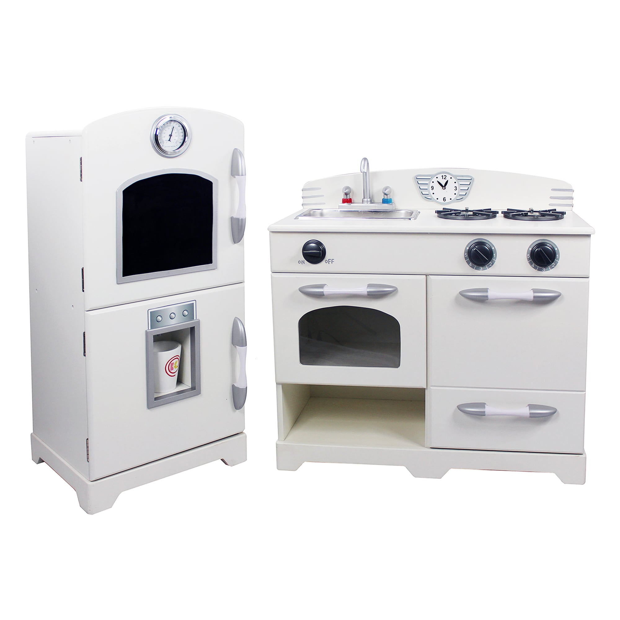 Shop Teamson Kids White/ Pink 2 Piece Play Kitchen   Free Shipping Today    Overstock.com   10811654