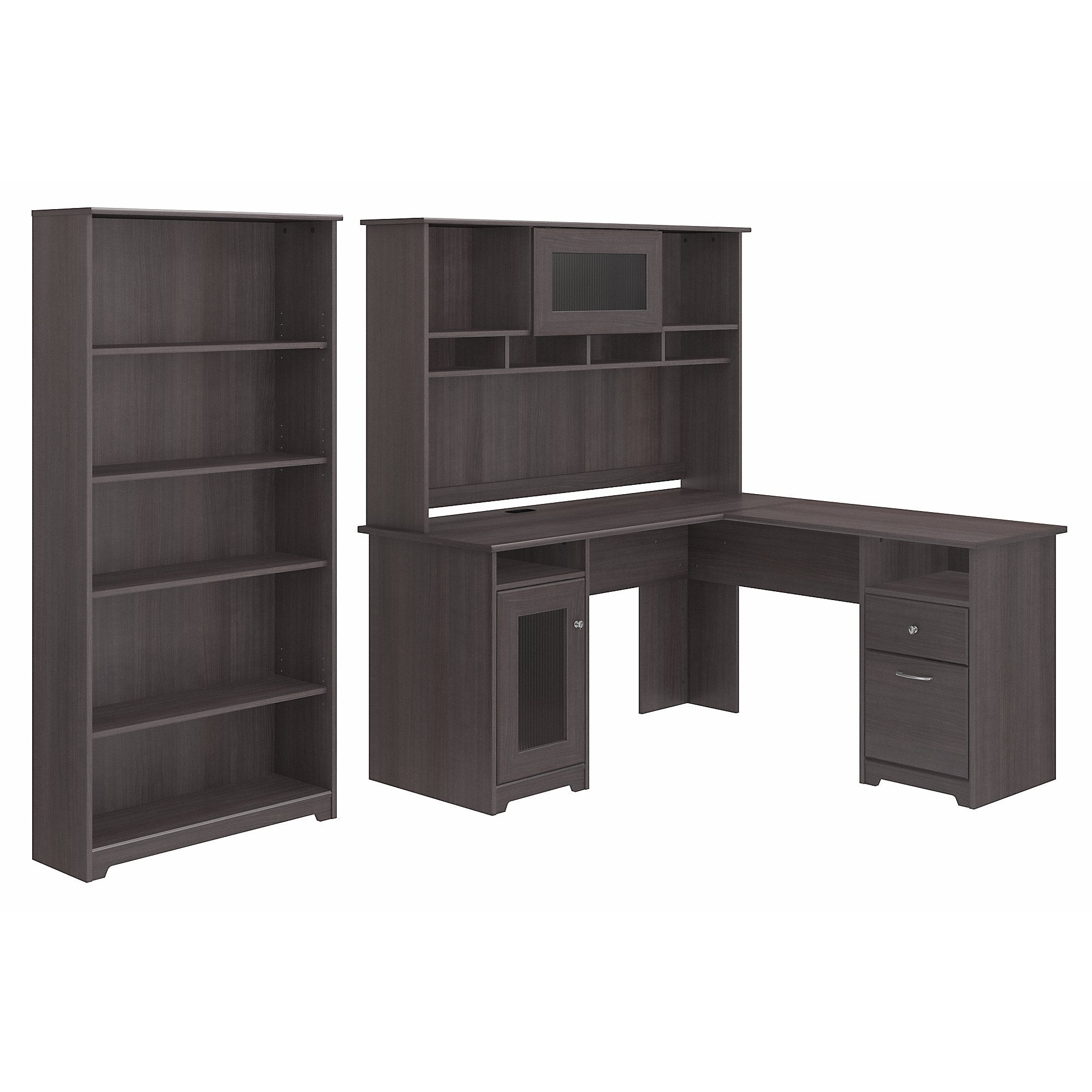 computer bookcases whitevan view larger bush hutch desk bookshelf with bookcase l