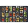 Indoor Veggie Jars Kitchen Mat (18 x 30)