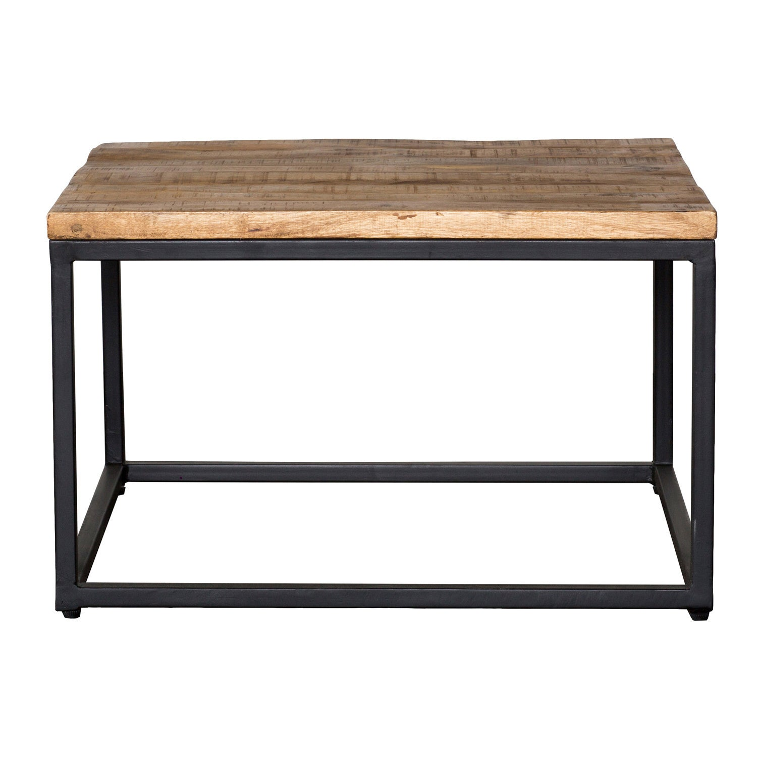 Shop Paris Natural Wood And Iron 30 Inch Square Coffee Table By Kosas Home    On Sale   Free Shipping Today   Overstock.com   10812699