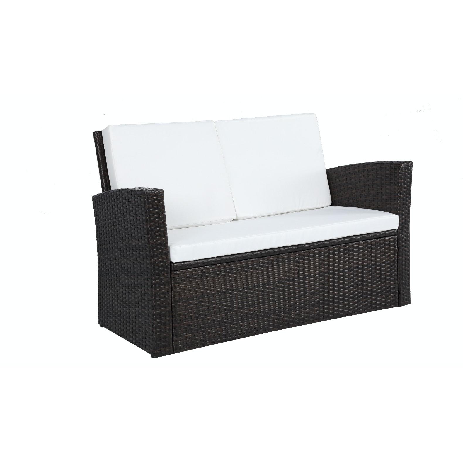 9e96c78b83d2 Shop Baner Garden Outdoor Furniture Complete Patio 4 pieces Cushion PE  Wicker Rattan Garden Set, Black - Free Shipping Today - Overstock - 10812735