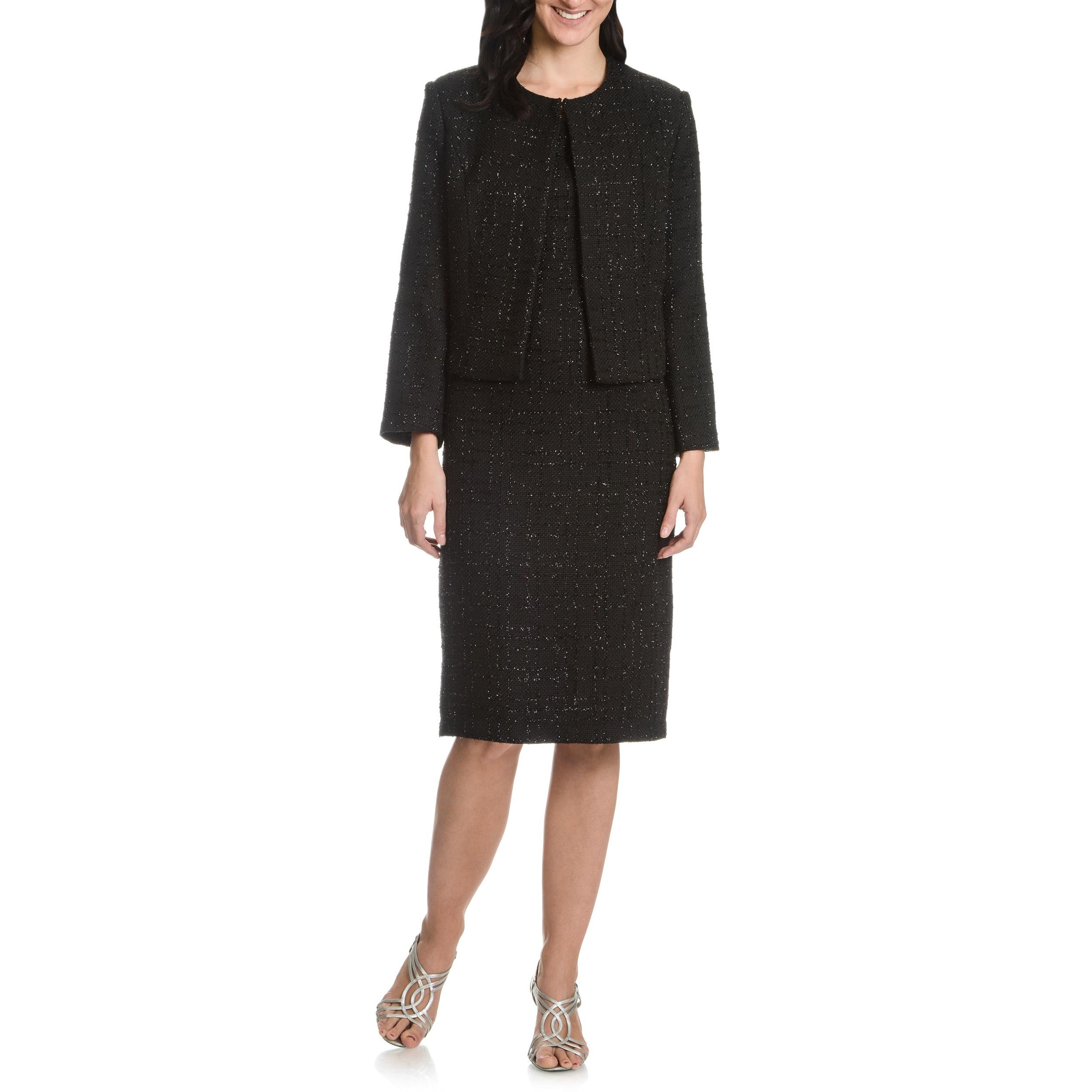 Shop Mia Knits Collection Women S Glitter Boucle 2 Piece Dress Suit