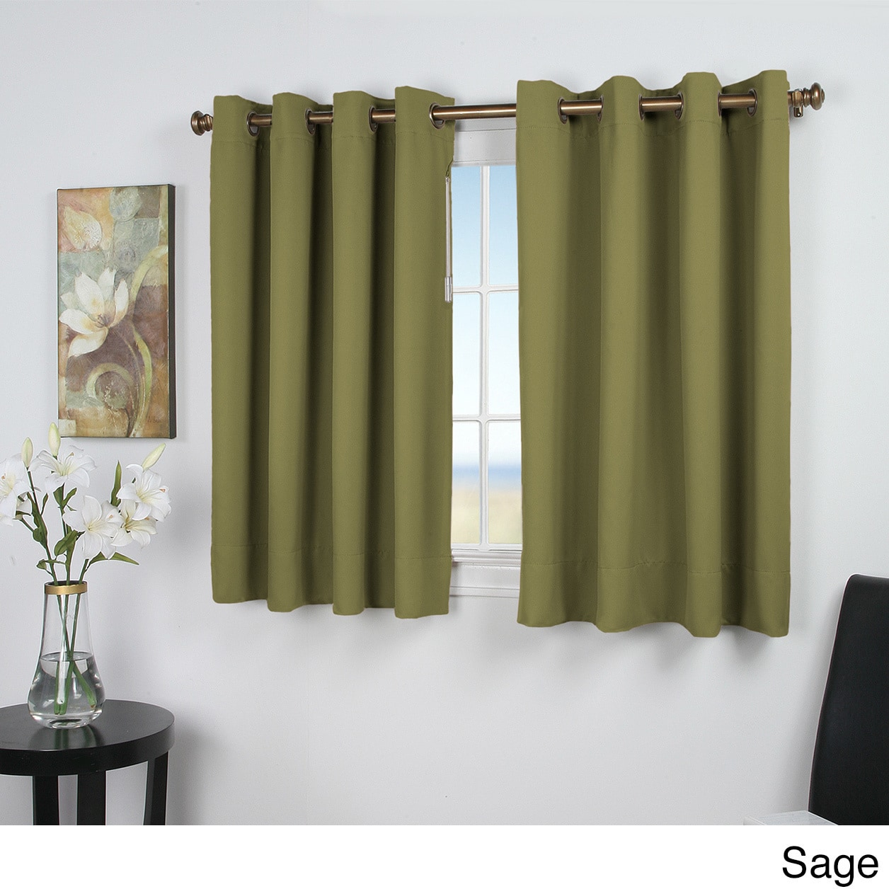 charming 52 Inch Length Curtains Part - 4: Shop Ultimate Blackout 45-inch Short Length Grommet Curtain Panel - Free  Shipping On Orders Over $45 - Overstock.com - 10812849