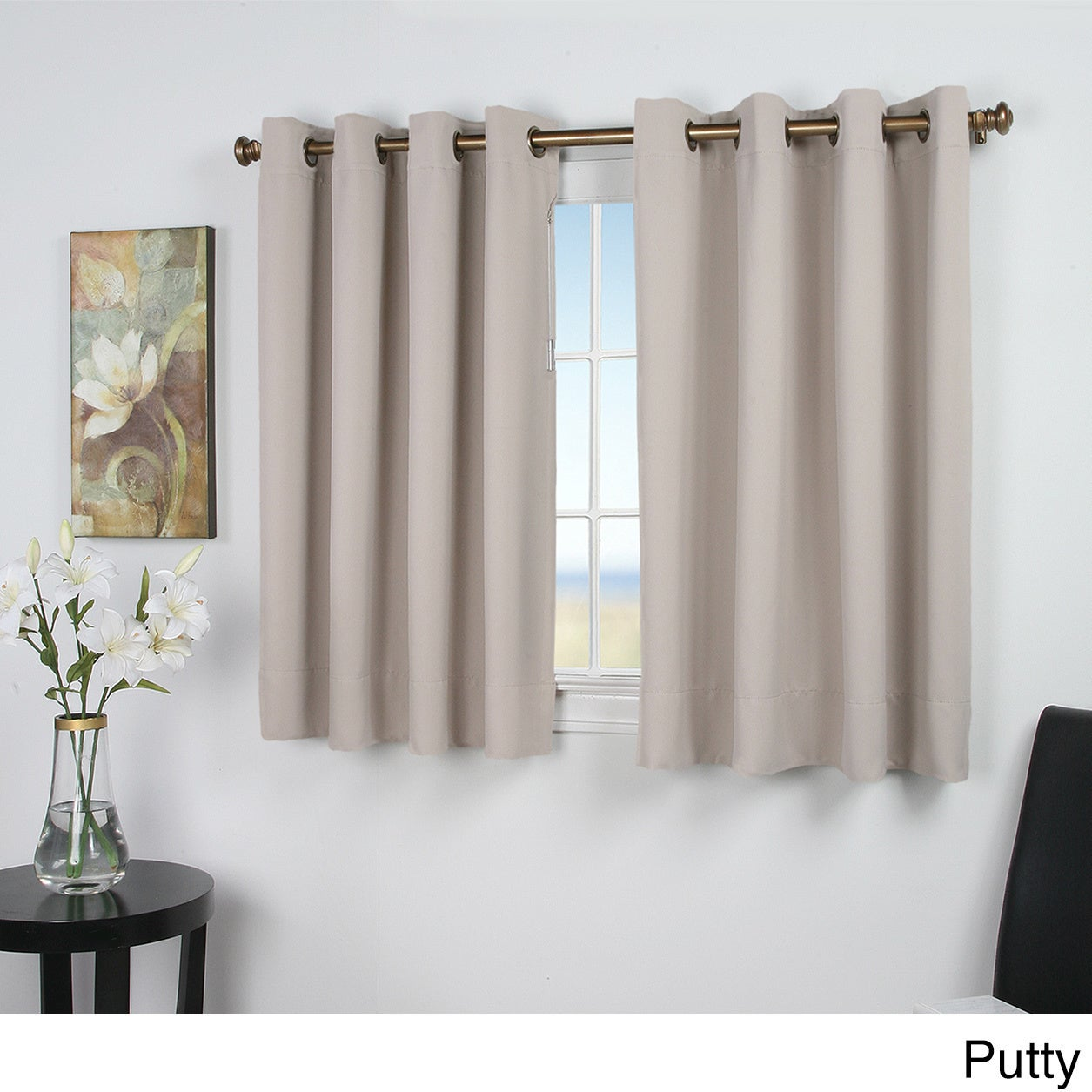Ultimate Blackout 45inch Length Grommet Curtain Panel Free