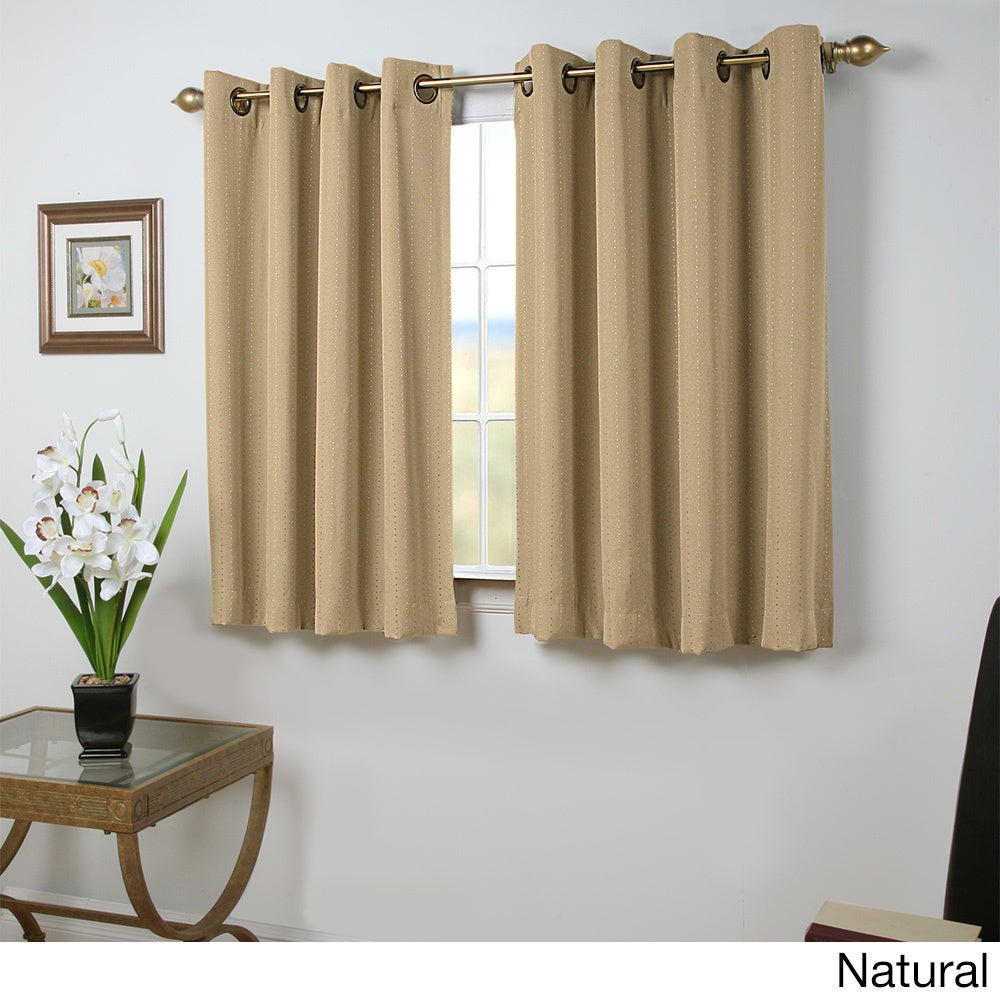 Shop Grand Pointe 54 Inch Length Grommet Blackout Panel With Attachable Wand