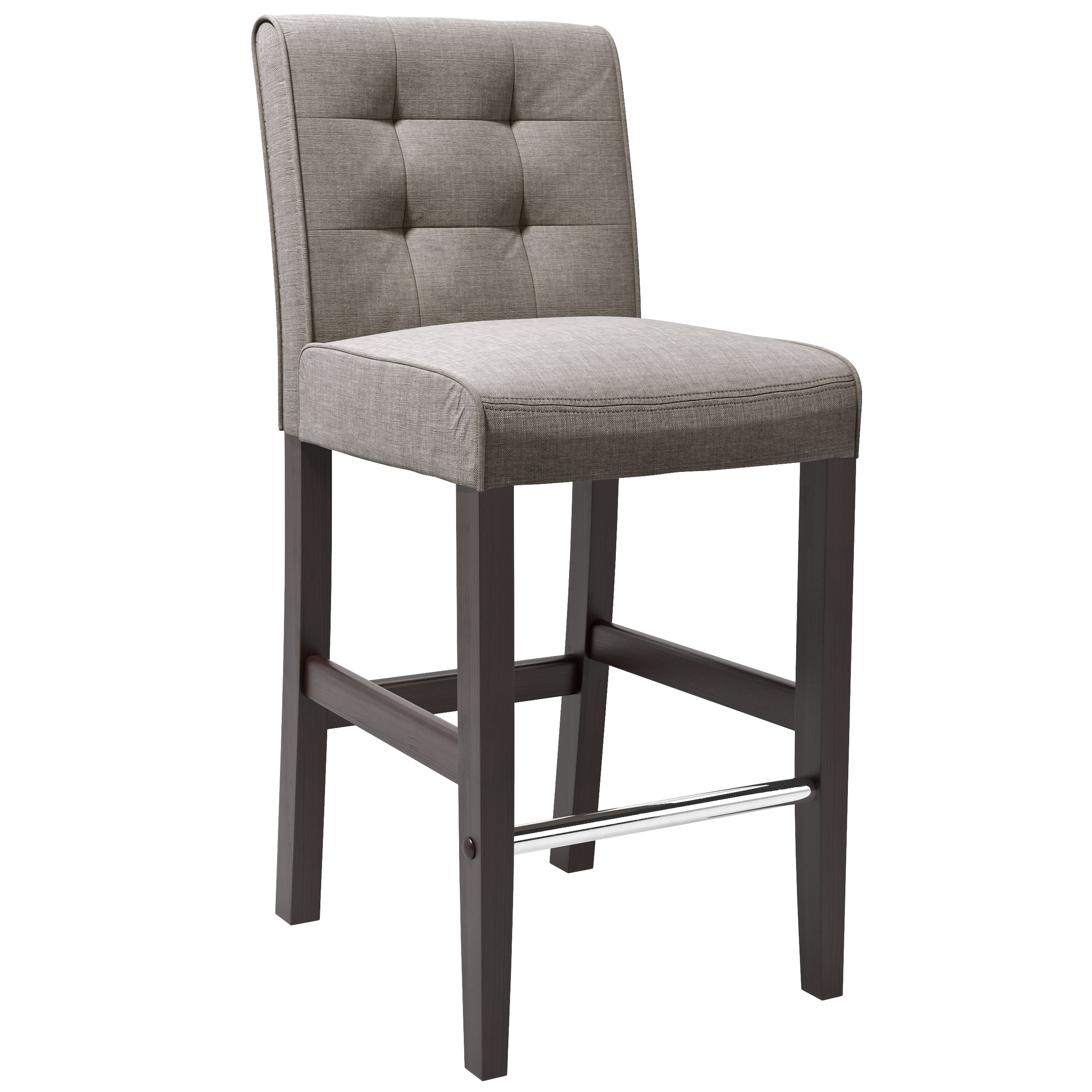 Shop corliving antonio bar height barstool in grey tweed fabric free shipping today overstock com 10813065