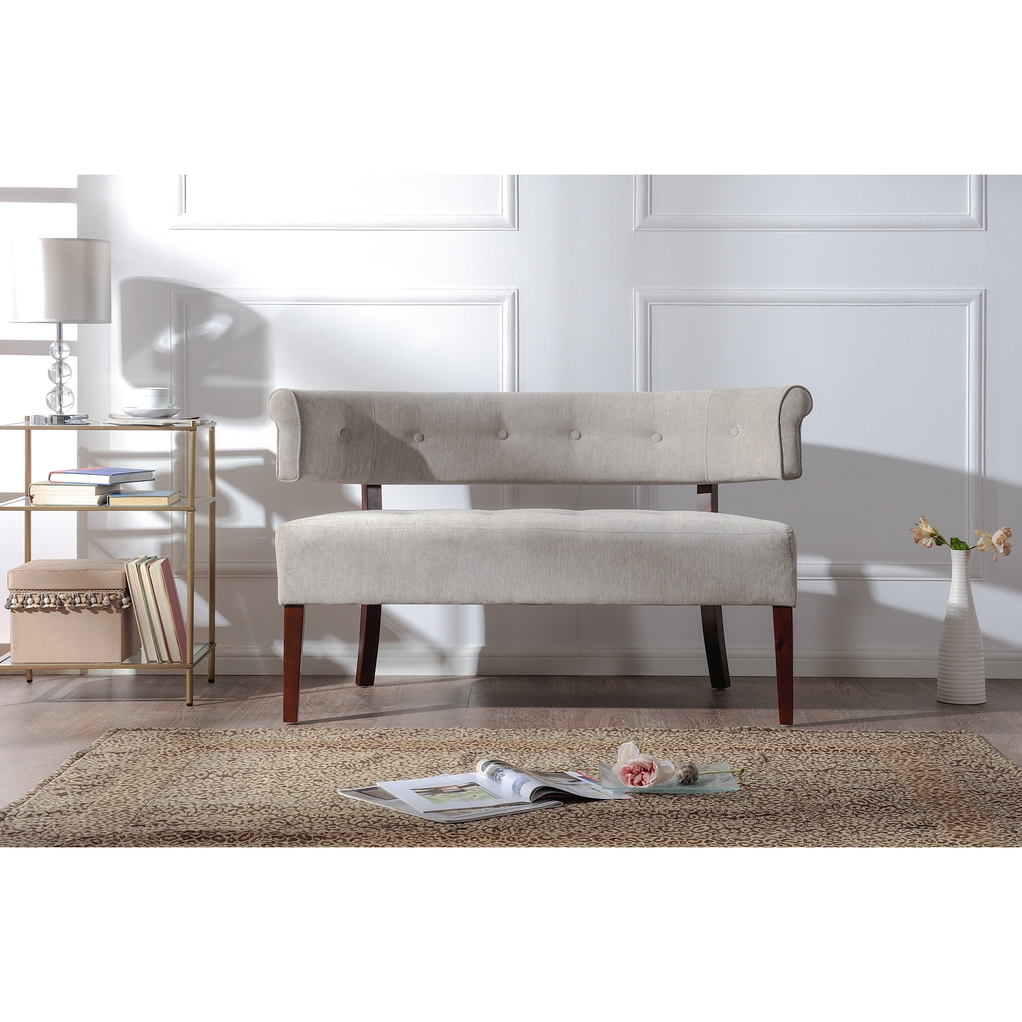 home blvd overstock tufted high lincoln free bench settee charcoal today ecce back garden shipping product harper