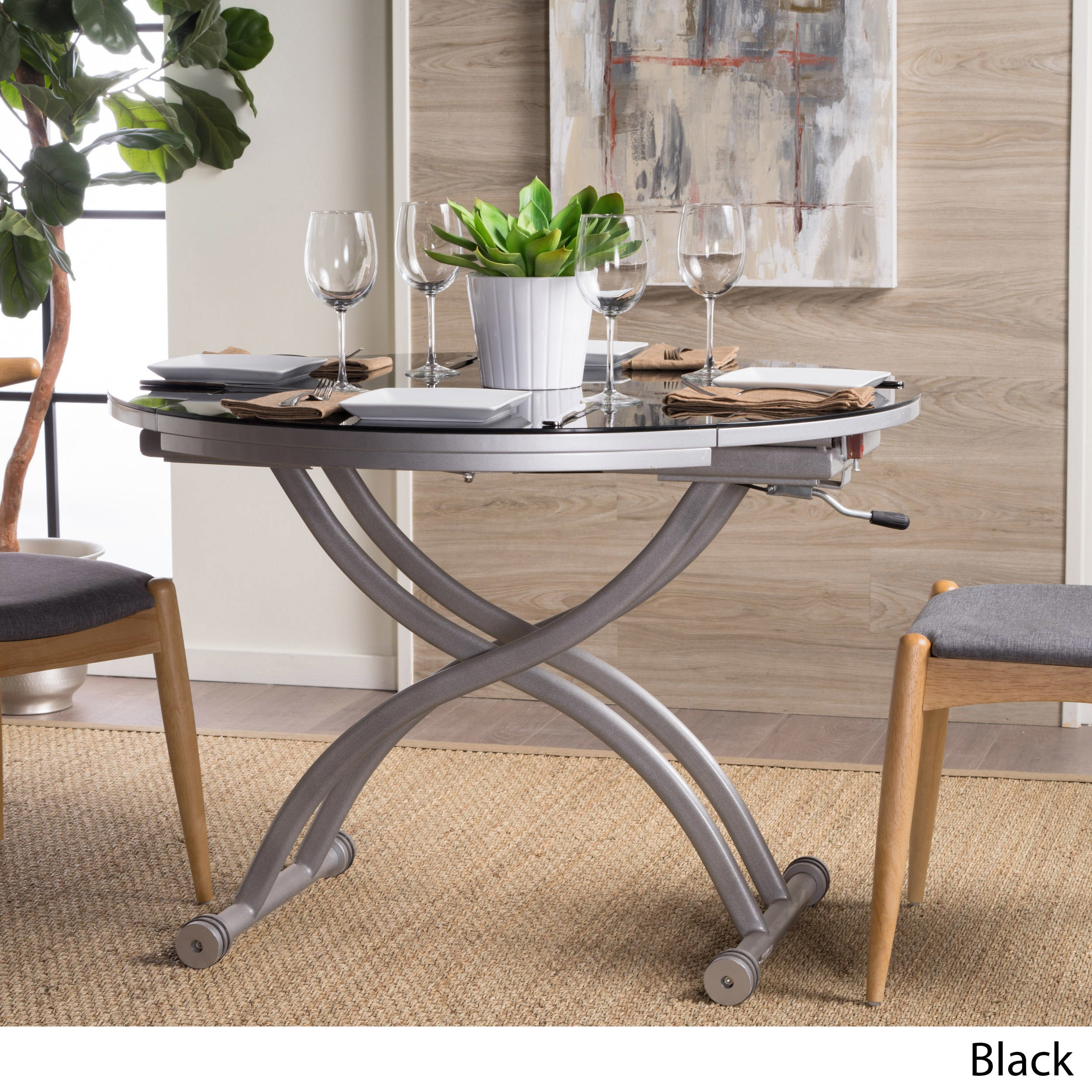 Shelby glass top folding table with drop leaf by christopher knight shelby glass top folding table with drop leaf by christopher knight home free shipping today overstock 17858754 watchthetrailerfo