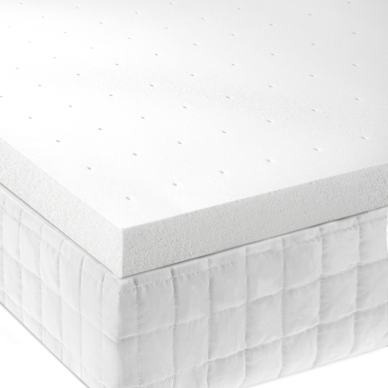 ISOLUS Ventilated 2 inch Memory Foam Mattress Topper Free