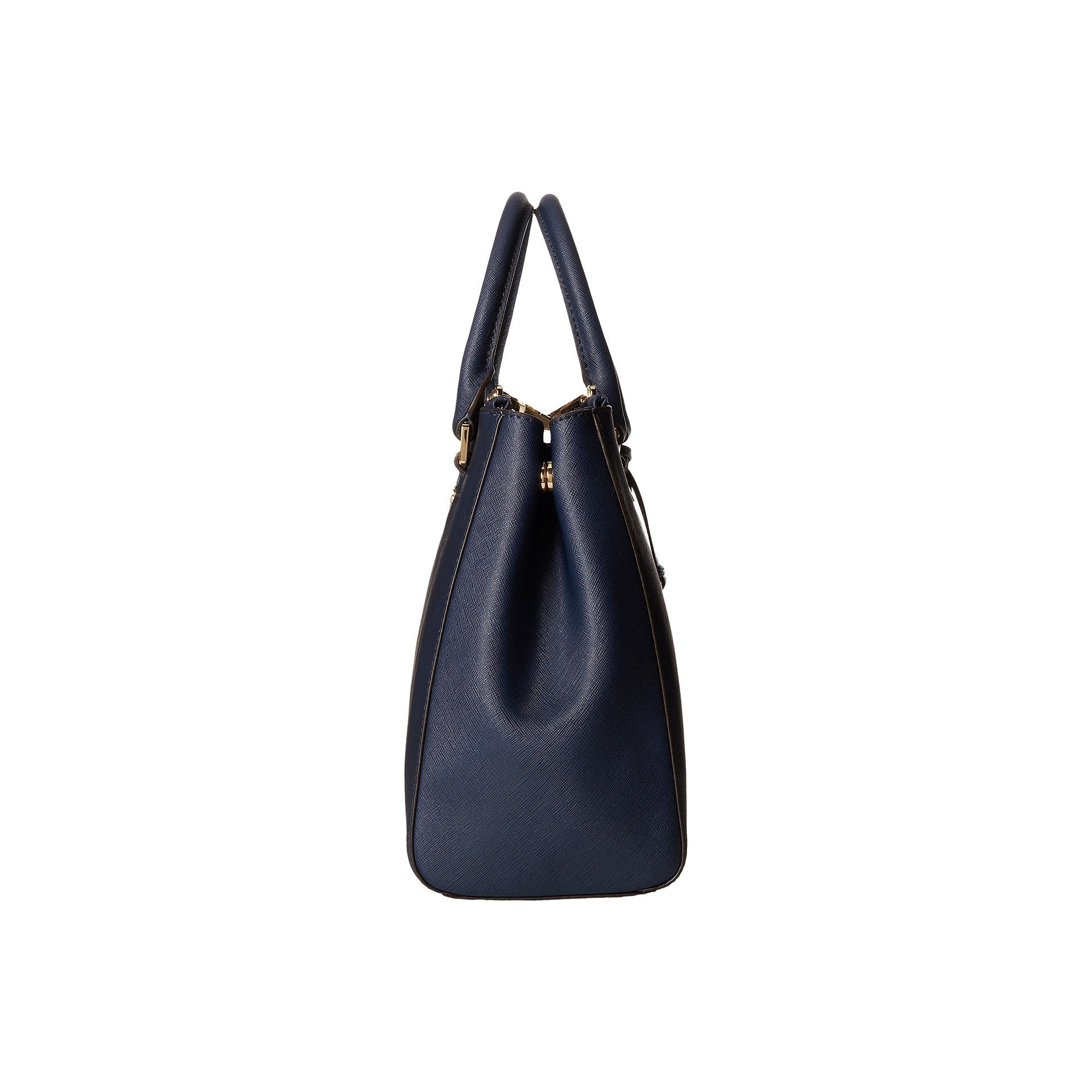 c06cdc7930f Shop Michael Kors Sutton Medium Navy Satchel Handbag - Free Shipping Today  - Overstock.com - 10814053