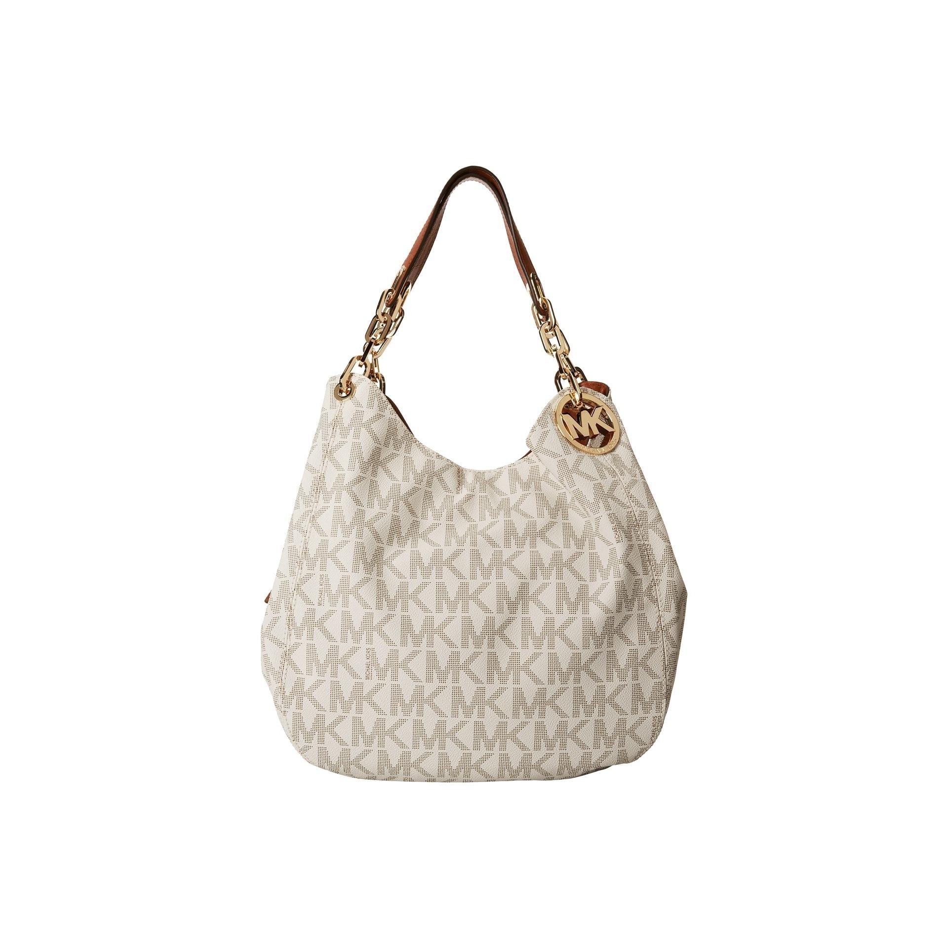 14d8cbb28603 Shop Michael Kors Fulton Large Vanilla Logo Shoulder Tote Bag - Free  Shipping Today - Overstock - 10814057