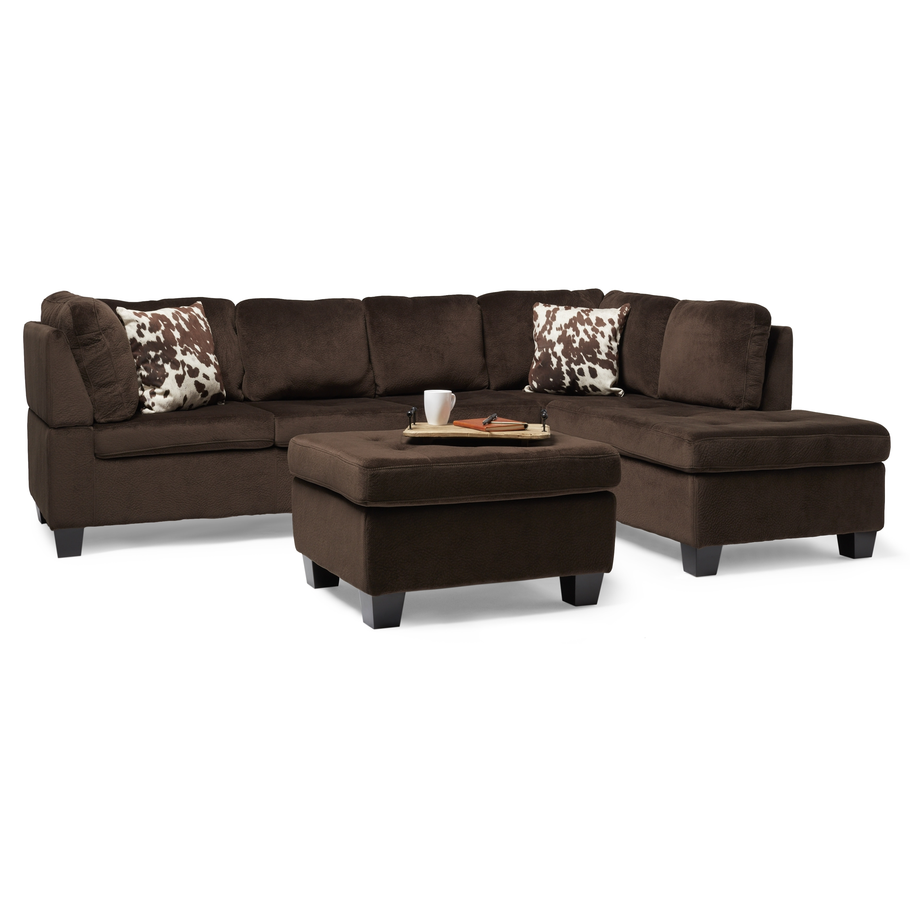 Canterbury 3 Piece Fabric Sectional Sofa Set By Christopher Knight Home On Free Shipping Today 10814121