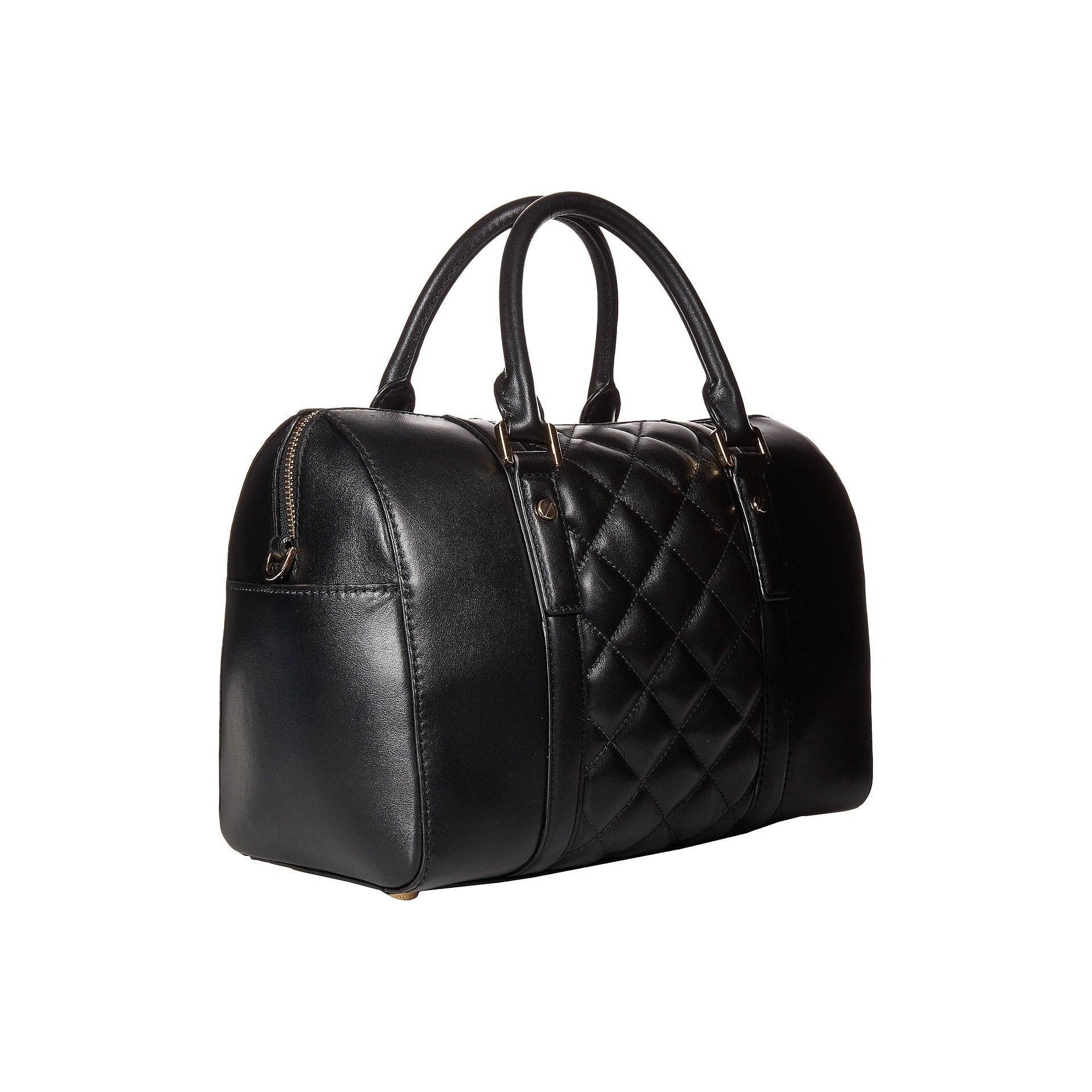 92908d64dc7b Shop Michael Michael Kors Grayson Medium Quilted Satchel - Black Gold -  Free Shipping Today - Overstock - 10824867
