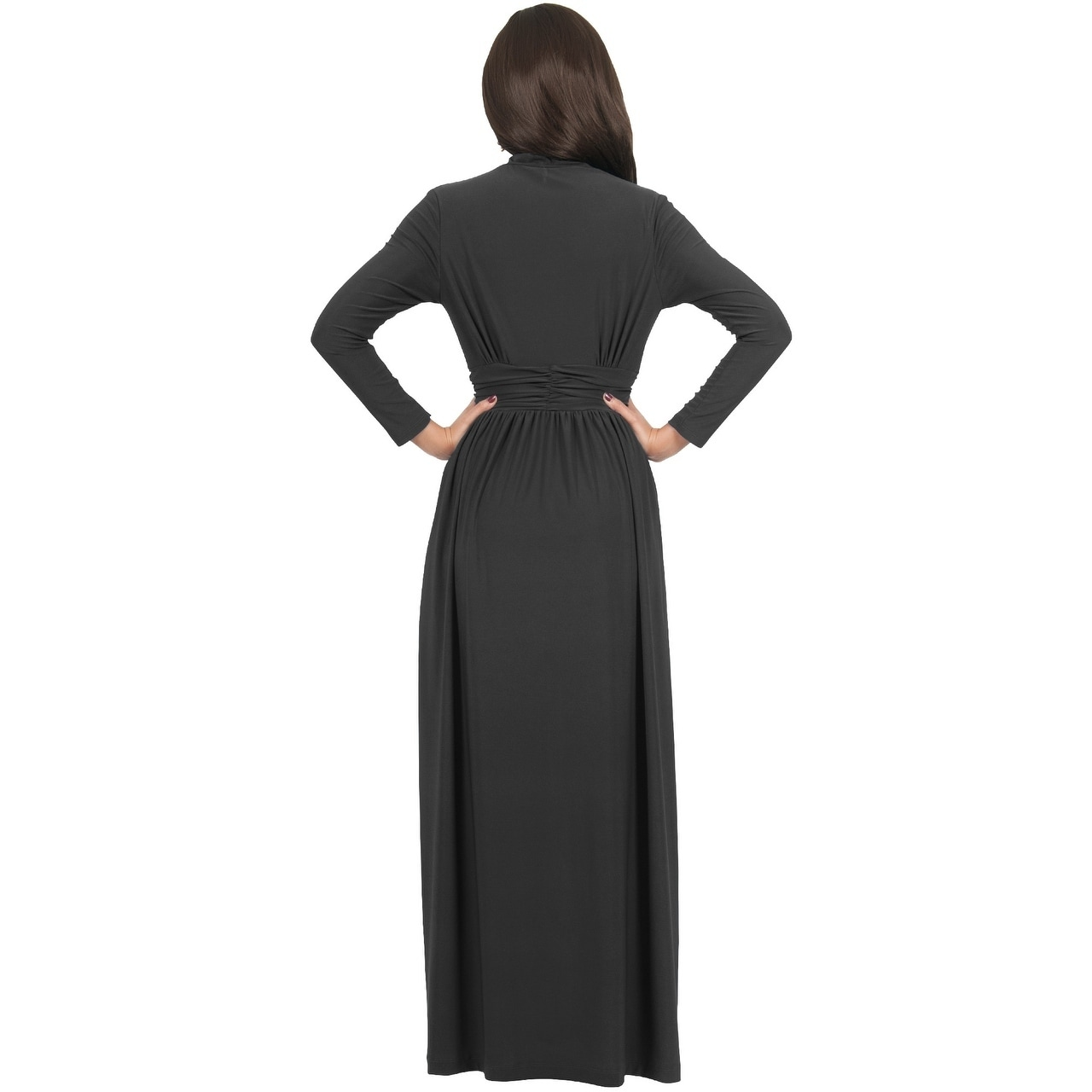6ea8e7c42598ba Shop KOH KOH Women s Vintage Inspired V-neck Long Sleeve Maxi Dress - Free  Shipping Today - Overstock - 10835718