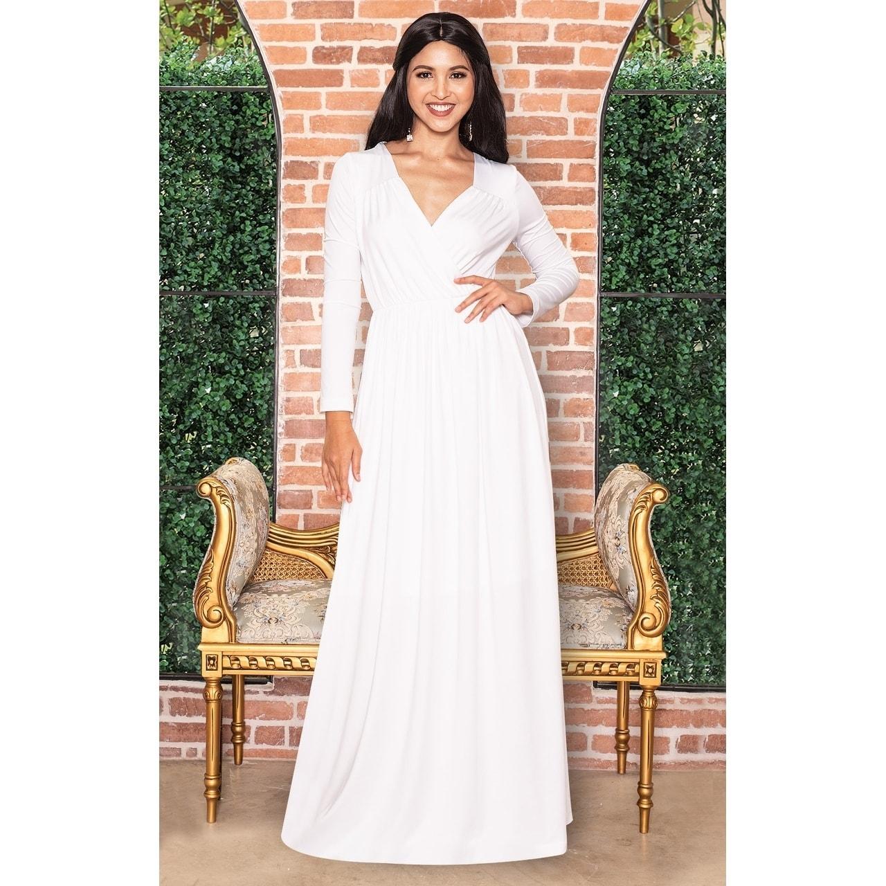 Shop KOH KOH Women\'s Long Sleeve Empire Waist Dress - Free Shipping ...