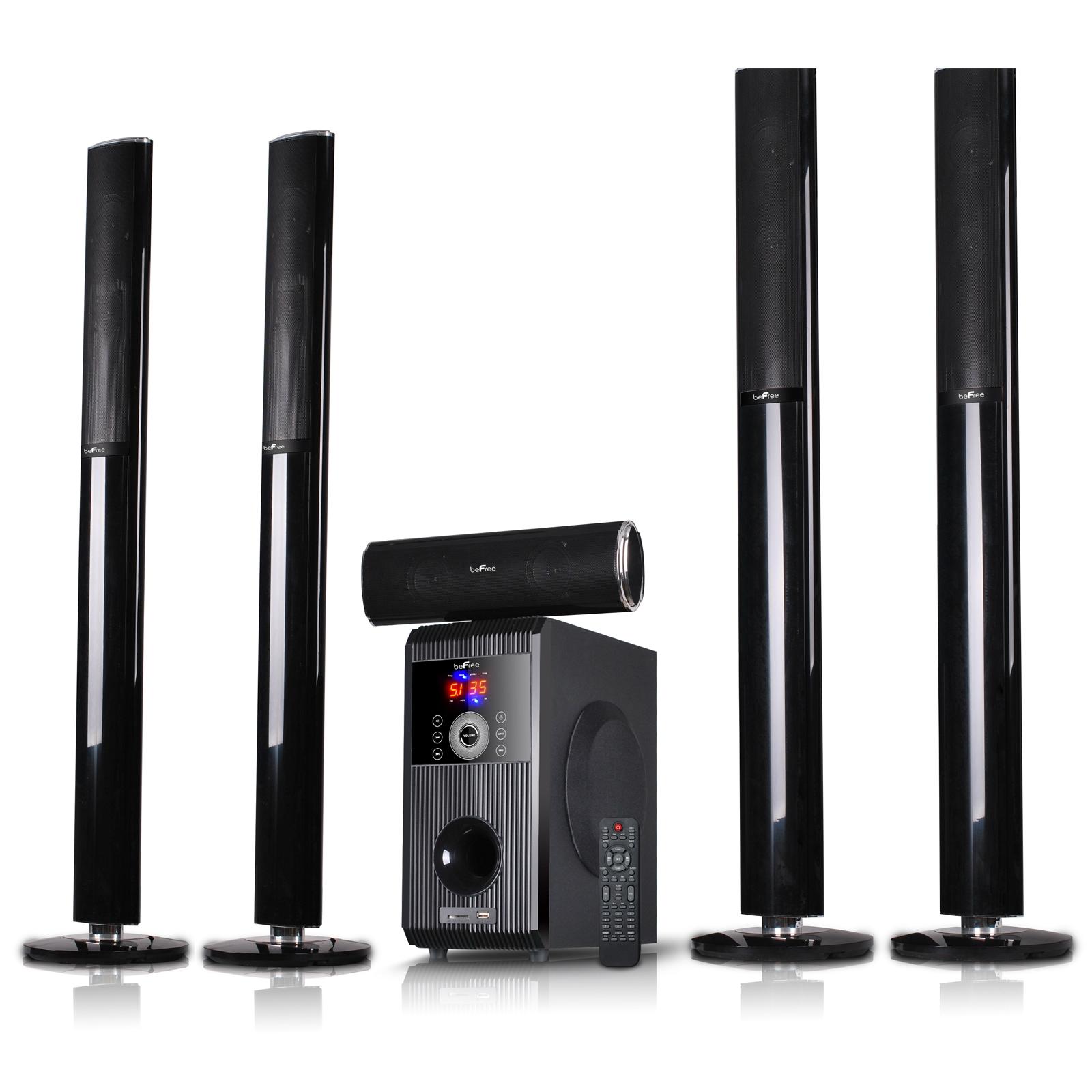 beFree Sound 5 1 Channel Surround Sound Bluetooth Speaker System