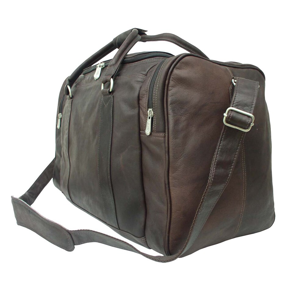 c9527e8a79 Shop Piel Leather 20-inch Classic Weekend Carry-On Duffel Bag - Free  Shipping Today - Overstock - 10836748