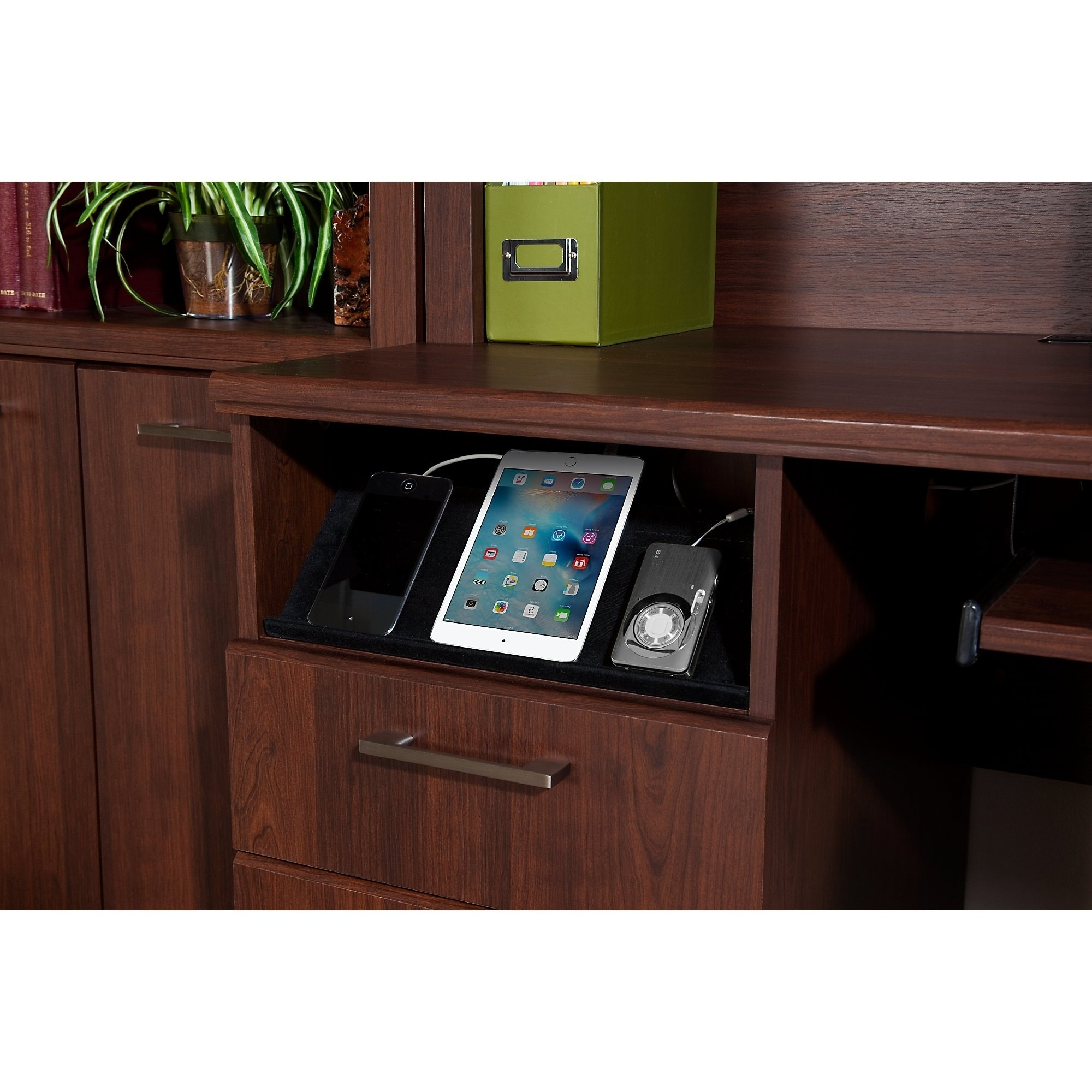 Achieve L Shaped Desk With Printer Stand File Cabinet In Sweet Cherry    Free Shipping Today   Overstock   17879453