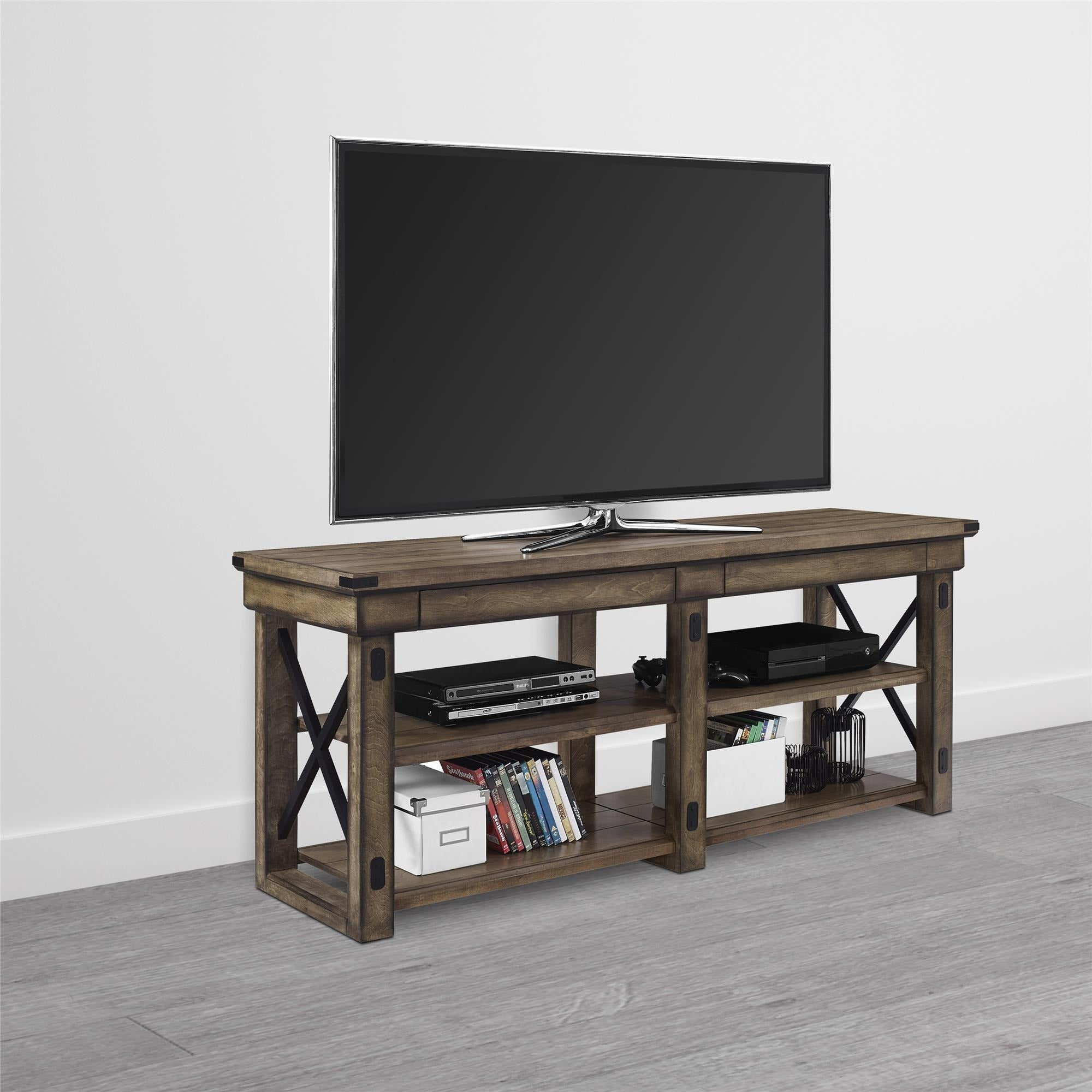 Shop Avenue Greene Woodgate Wood Veneer Tv Stand For Tvs Up To 65