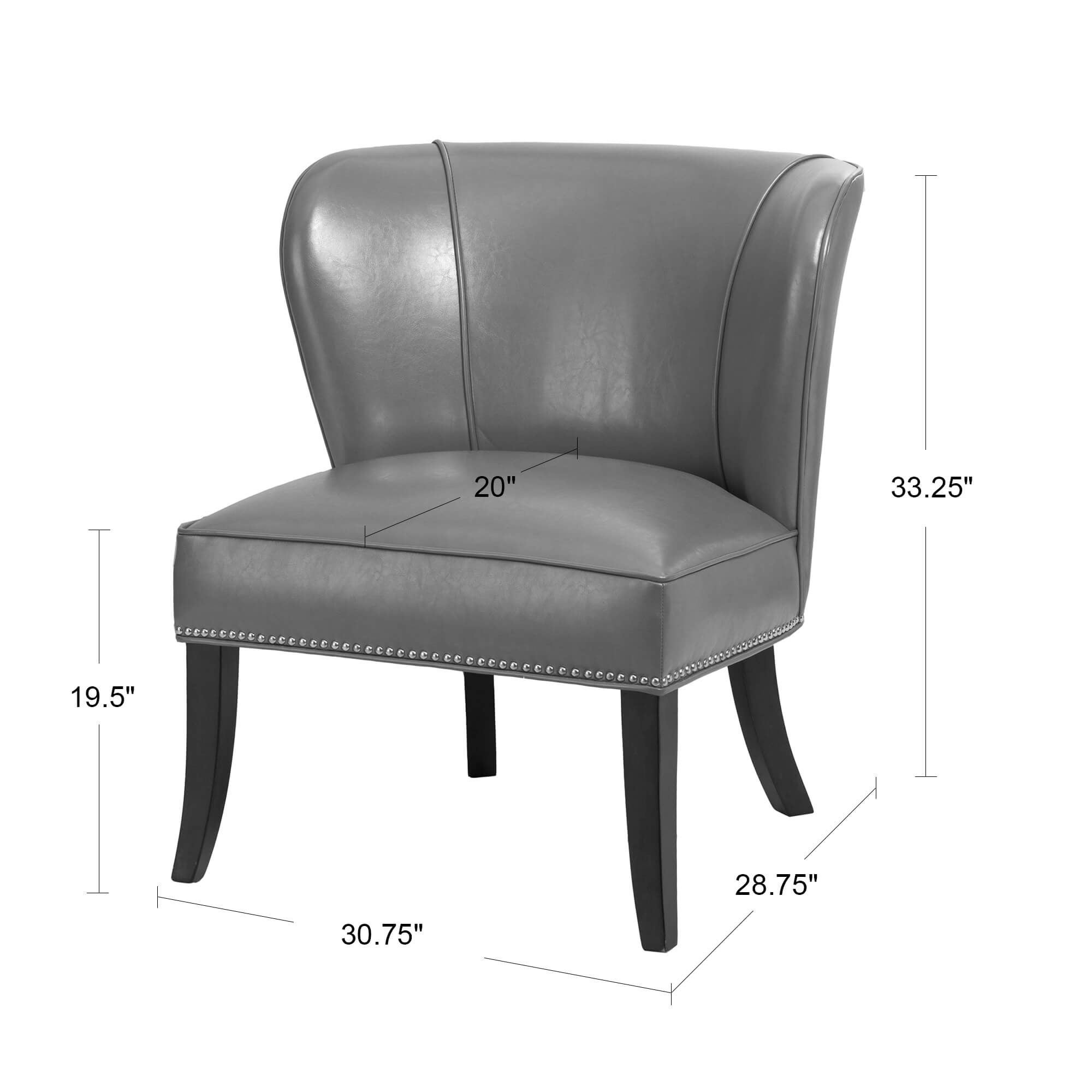grey accent chair with arms. Madison Park Sheldon Concave Back Armless Grey Accent Chair - Free Shipping Today Overstock 17879871 With Arms