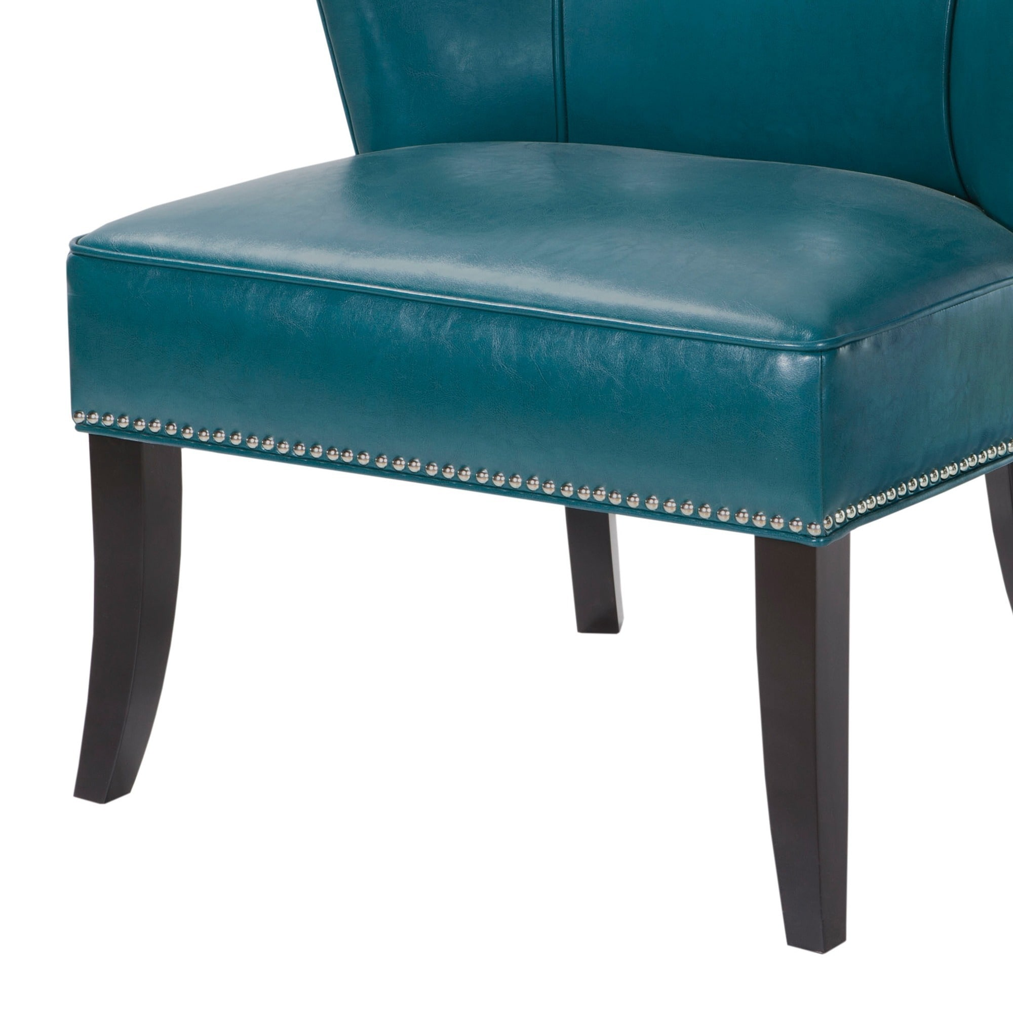 Nice Madison Park Sheldon Blue Concave Back Armless Chair   Free Shipping Today    Overstock   17880164