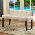 Furniture of America Huntress I Crocodile Leatherette Button Tufted 42-inch Accent Bench