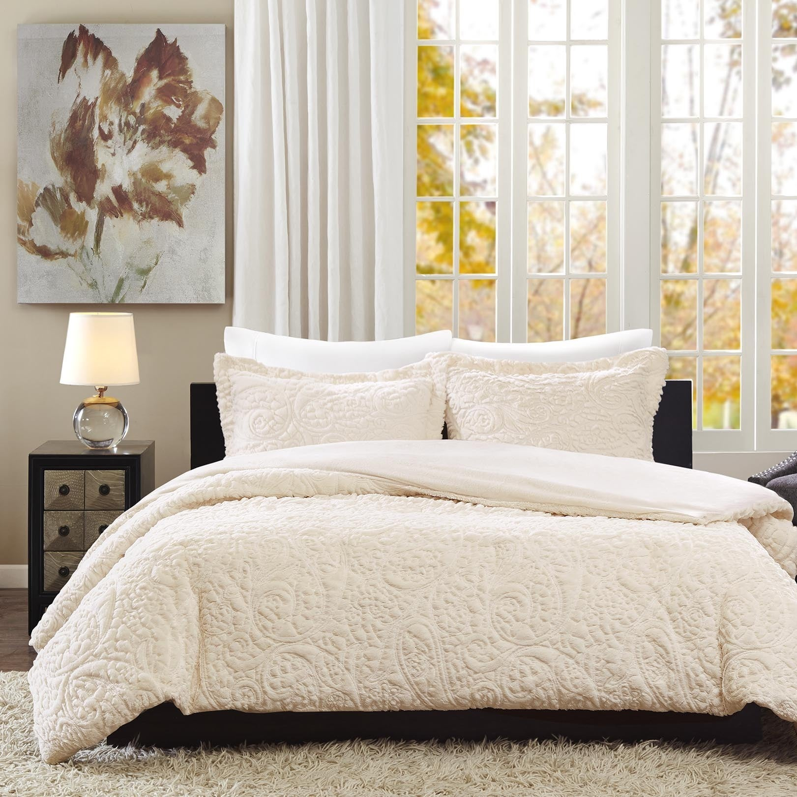 of bed set eyelet in bag sets ivory photo clearance a x comforter