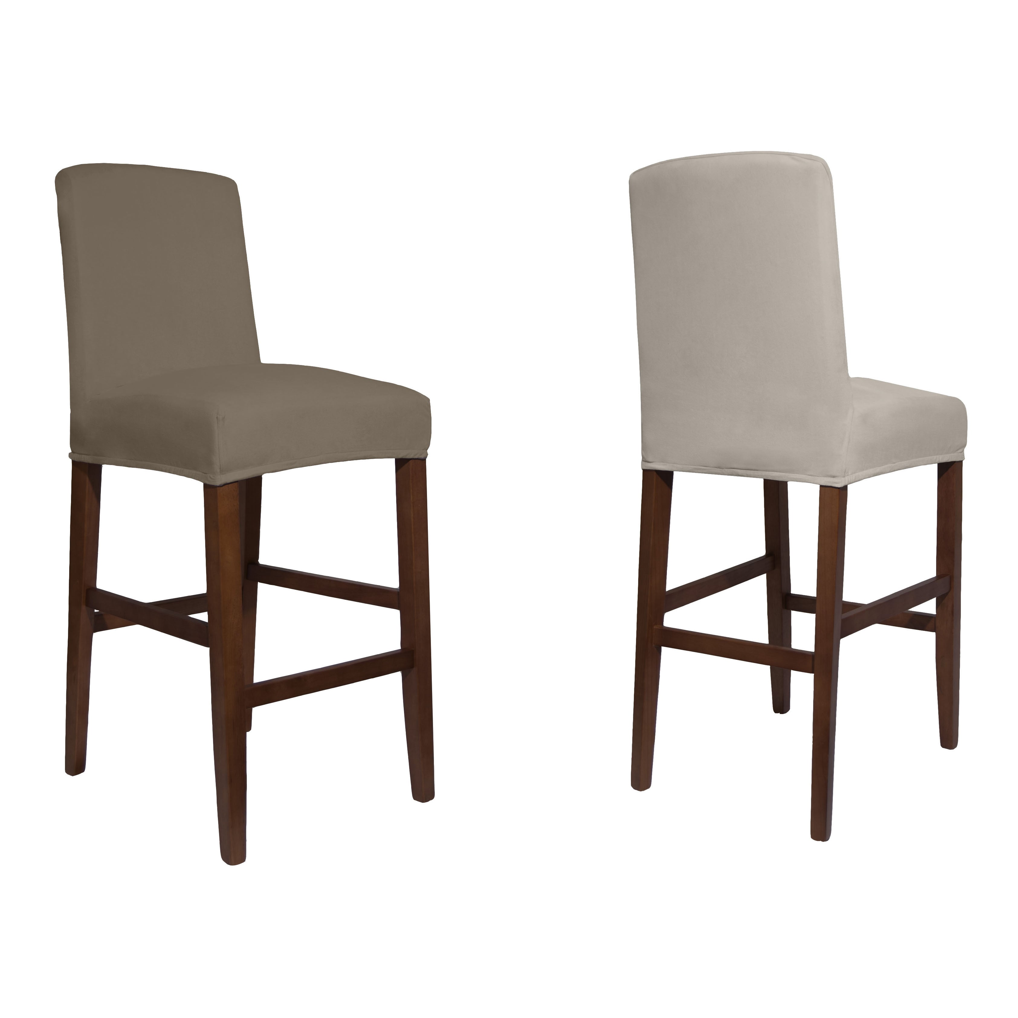 Shop Tailor Fit Reversible Stretch Suede Slipcover Dining Chair Short   On  Sale   Free Shipping On Orders Over $45   Overstock.com   10838444