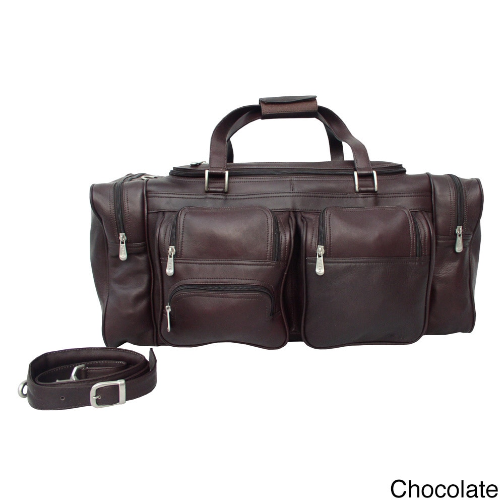 Shop Piel Leather 24-inch Duffel with Pockets - Free Shipping Today -  Overstock - 10840675 641780df91b4b