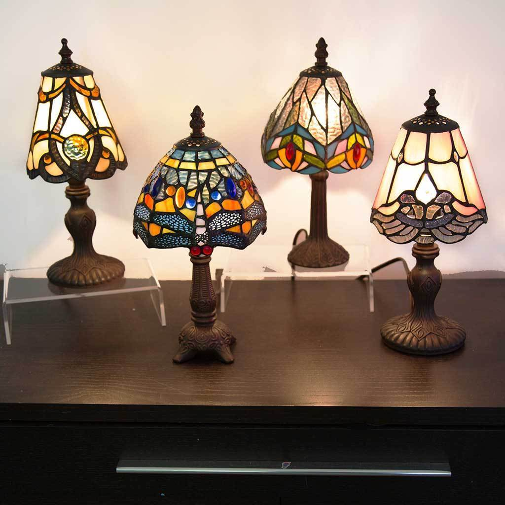 River Of Goods 12 Inch Tiffany Style Stained Gl Mini Hanging Head Dragonfly Accent Lamp On Free Shipping Today 10840761