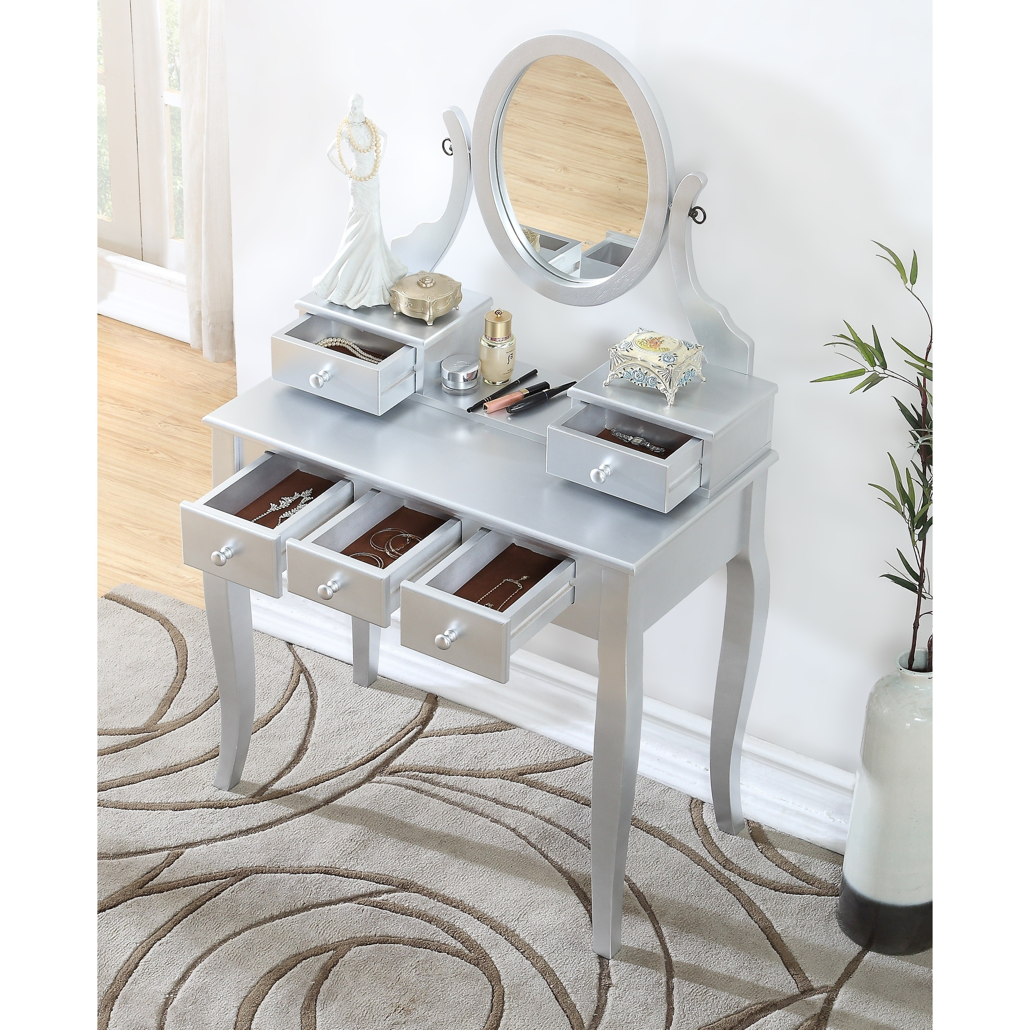 Oak Makeup Vanity Set. Maison Rouge Alice Wood Makeup Vanity Table and Stool Set  Free Shipping Today Overstock com 17882090