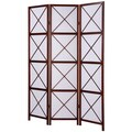 Walnut 3-Panel Screen Room Divider