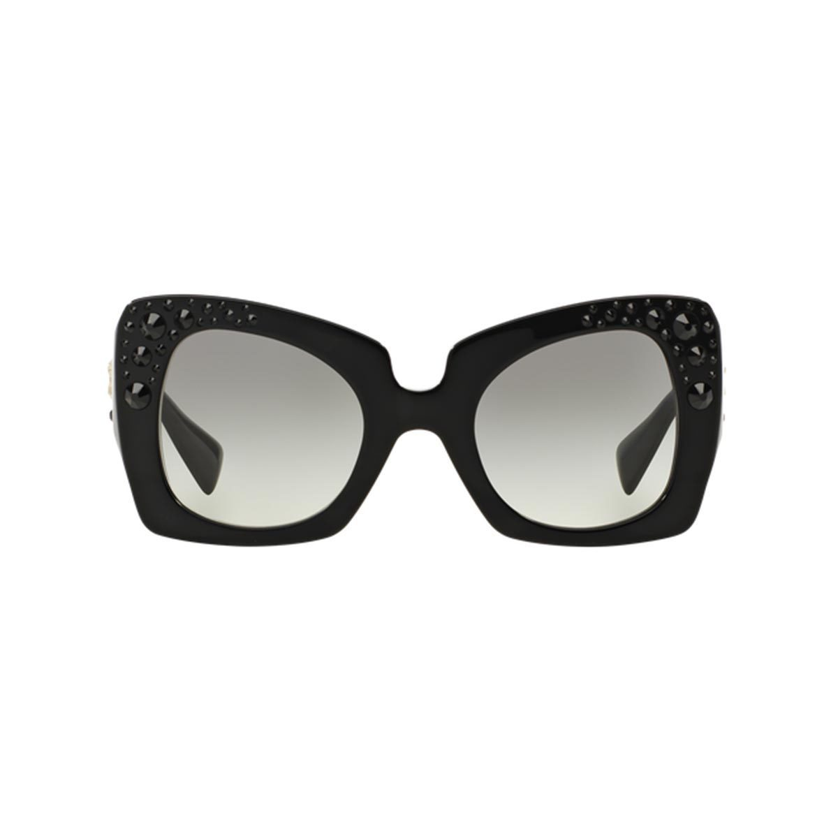 dc5b7e52f78e Shop Versace Women s VE4308B 54 Black Plastic Butterfly Oversized Sunglasses  - Free Shipping Today - Overstock - 10841149