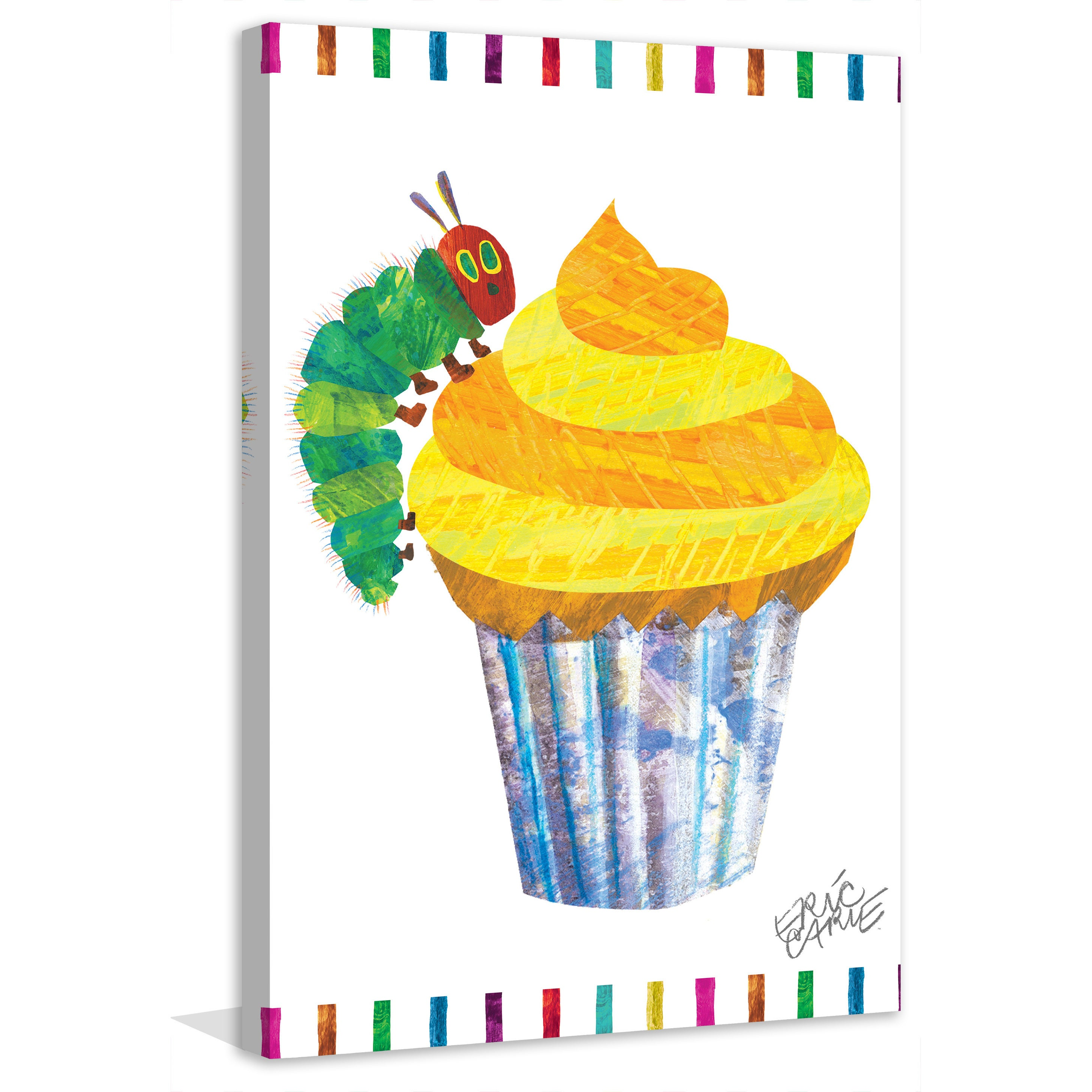 Shop Marmont Hill - Caterpillar Cupcake by Eric Carle Painting Print ...