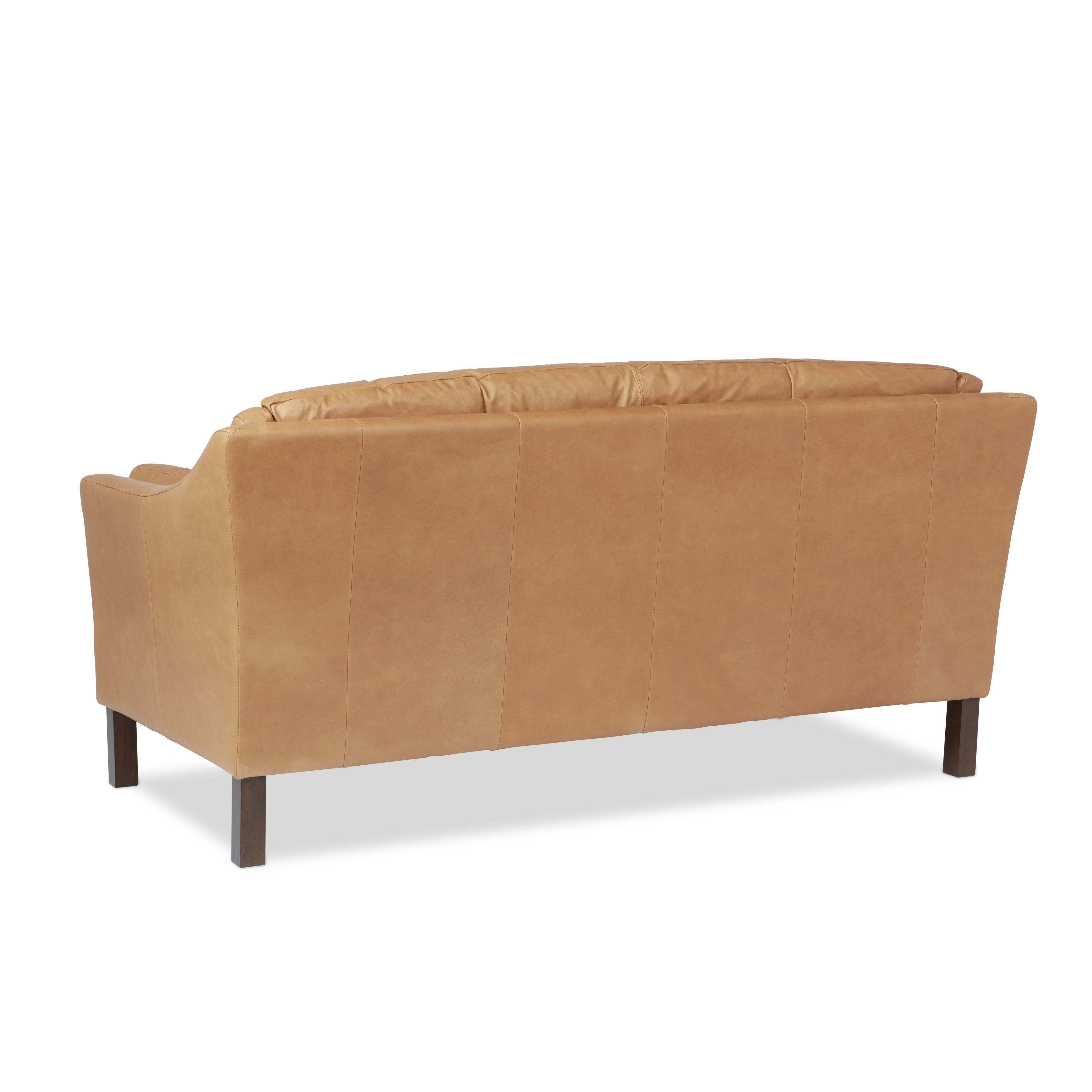 Reginald Charme Russet Leather Sofa Free Shipping Today  ~ Single Cushion Sofa Couch