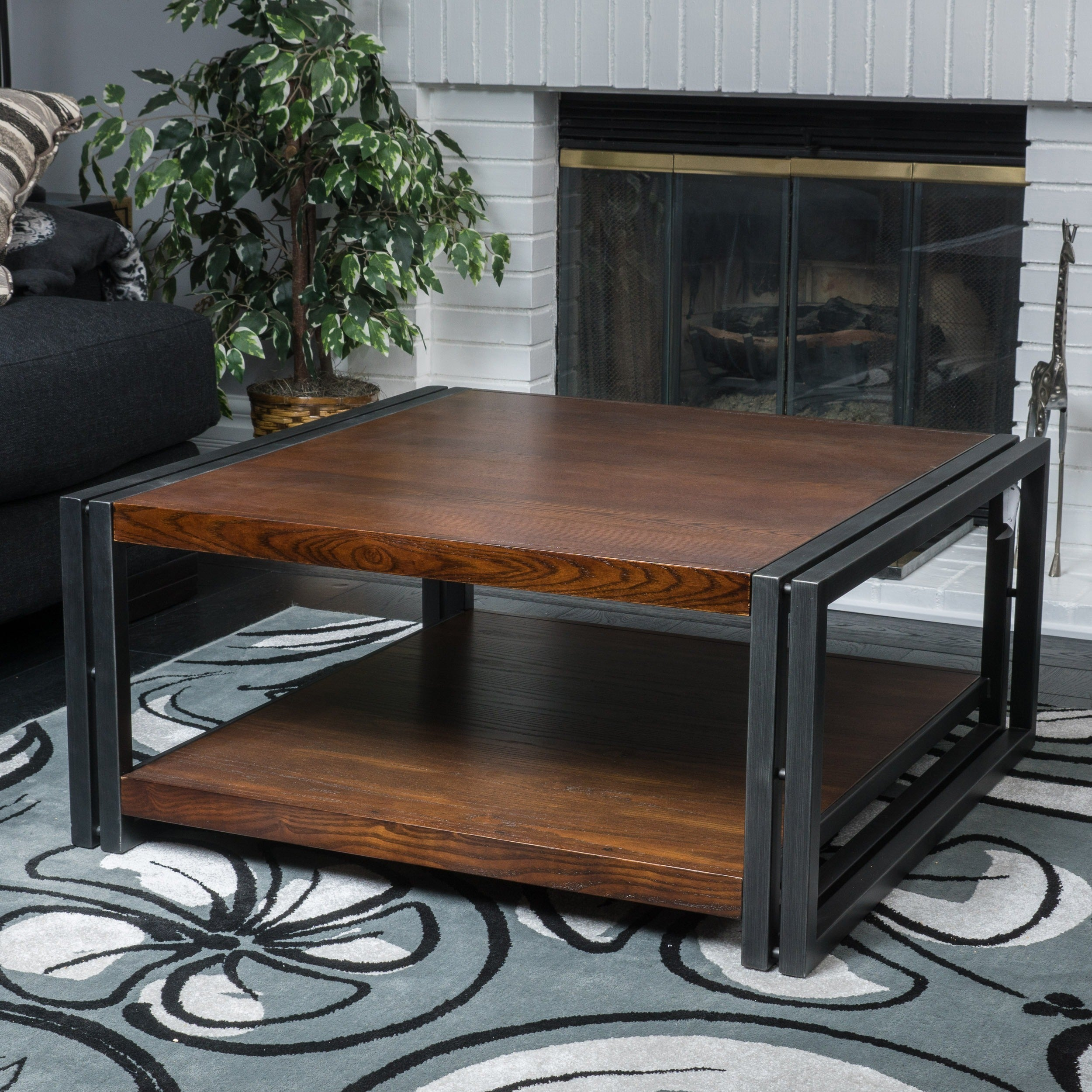 Mayfair Dark Oak Wood Coffee Table By Christopher Knight Home Free Shipping Today 10845670