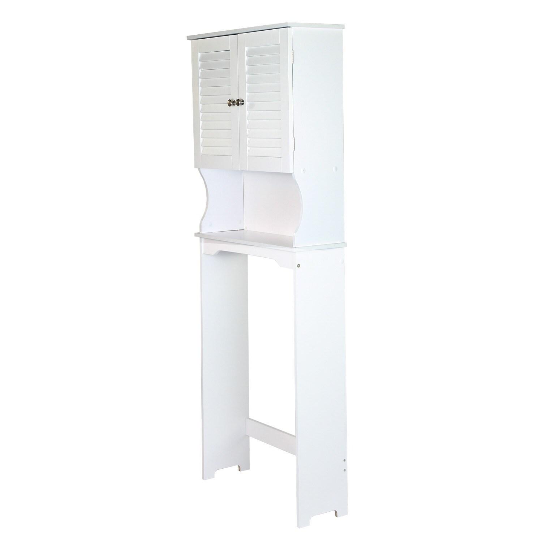 Adeco Over the Toilet Storage Spacesaver Shelves White Finish