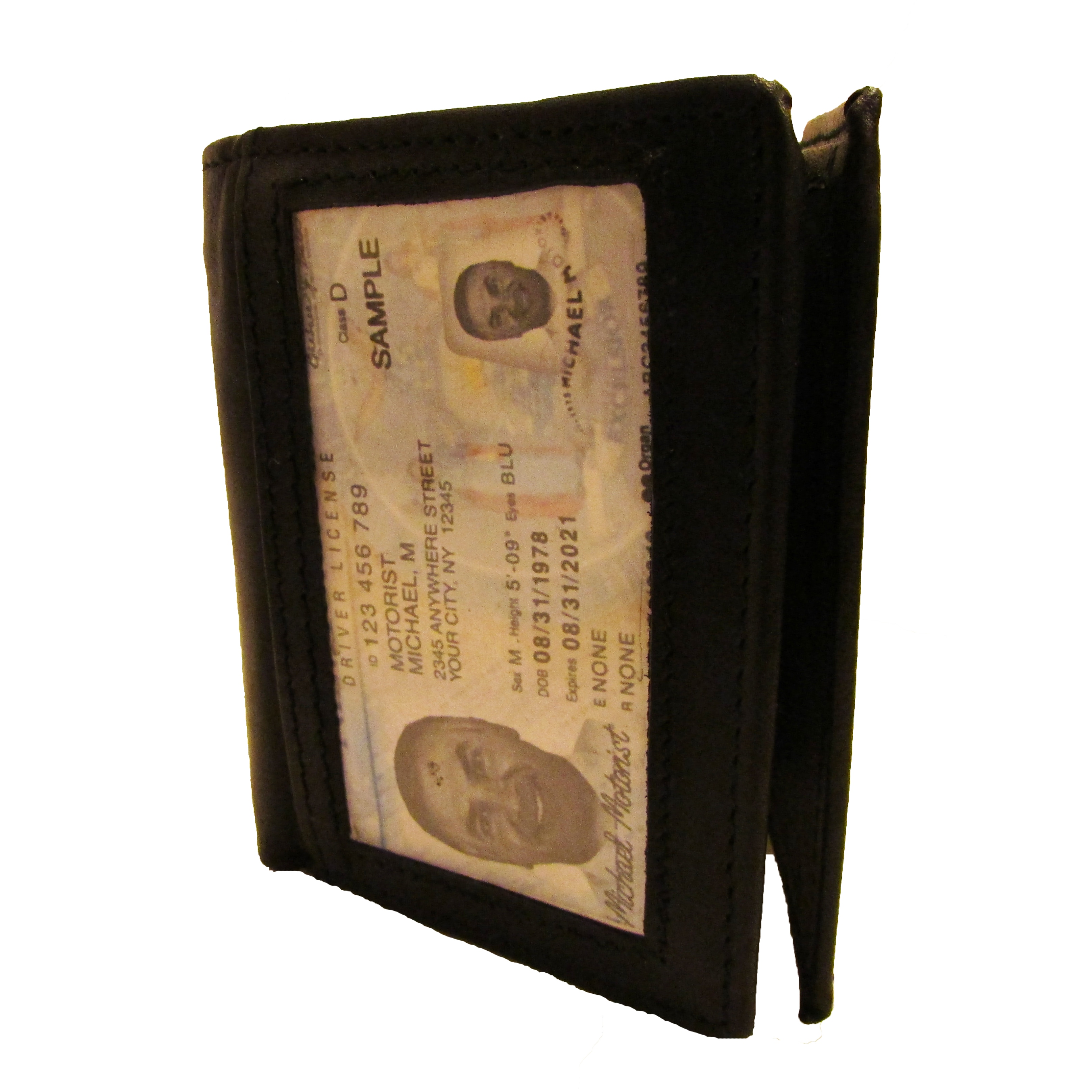 shop continental leather men s trifold wallet with outside window id