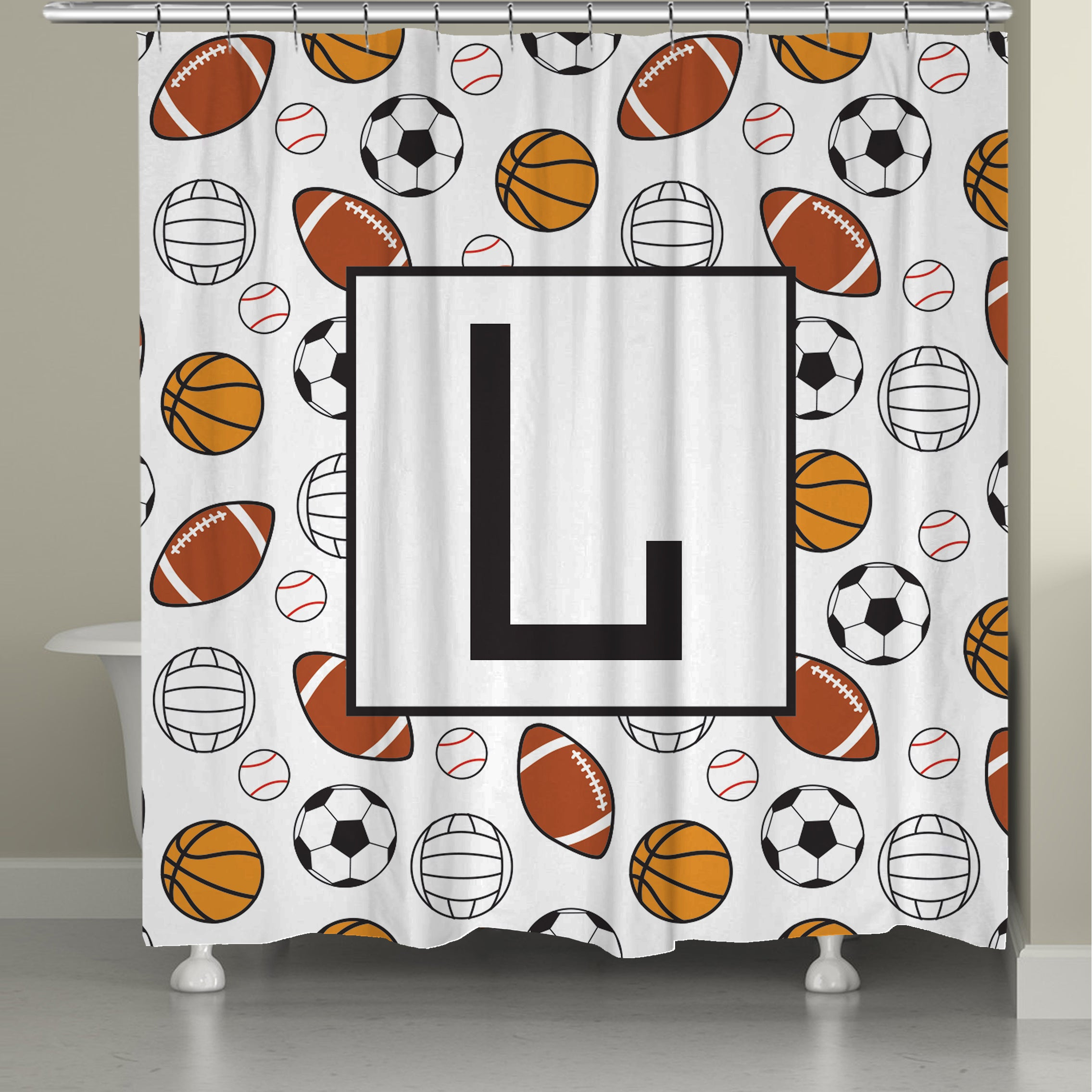 full size monogrammed monogram coral fabric shower white curtains decorating curtain