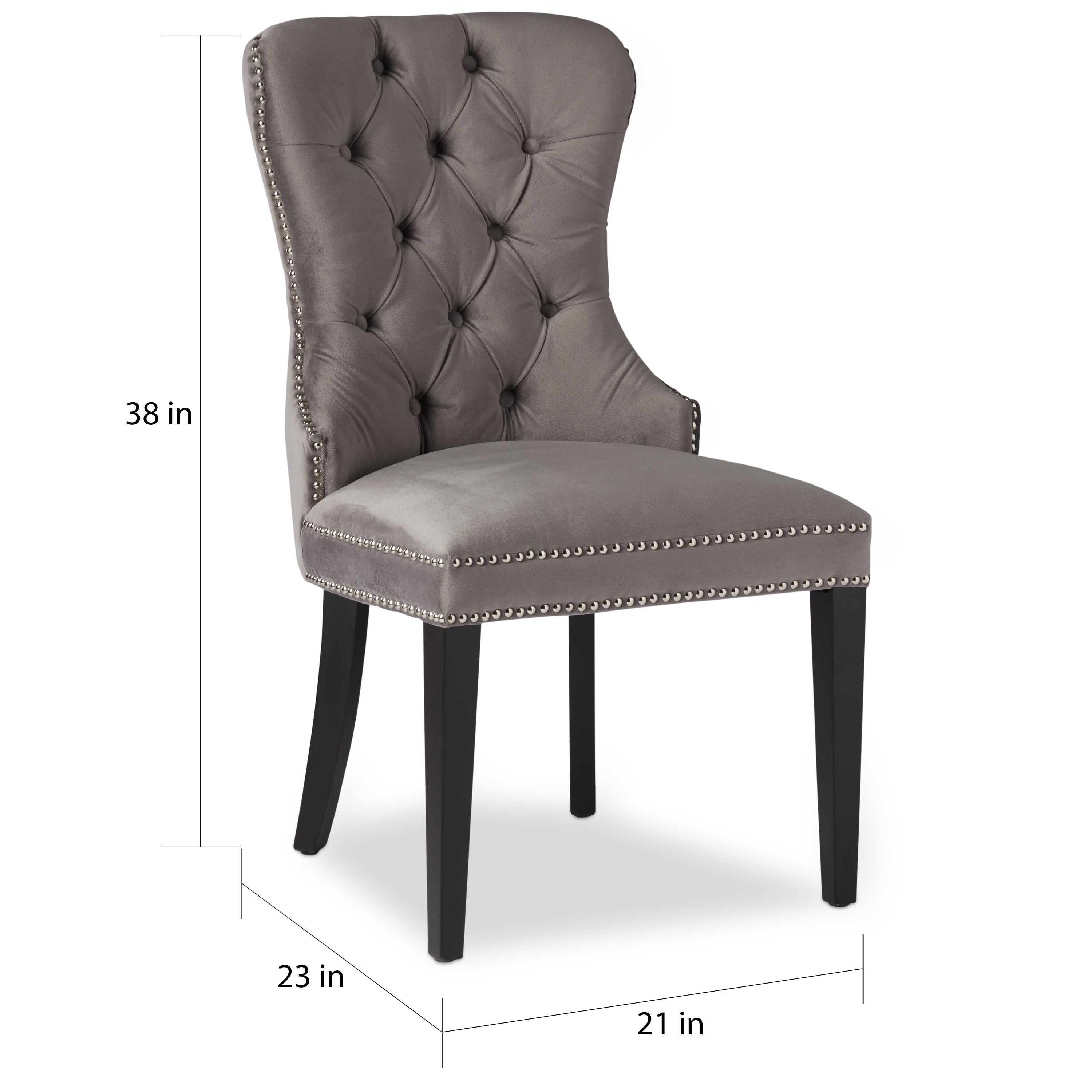 5ac4e875d86 Shop Abbyson Versailles Grey Tufted Dining Chair - On Sale - Free Shipping  Today - Overstock - 10855757