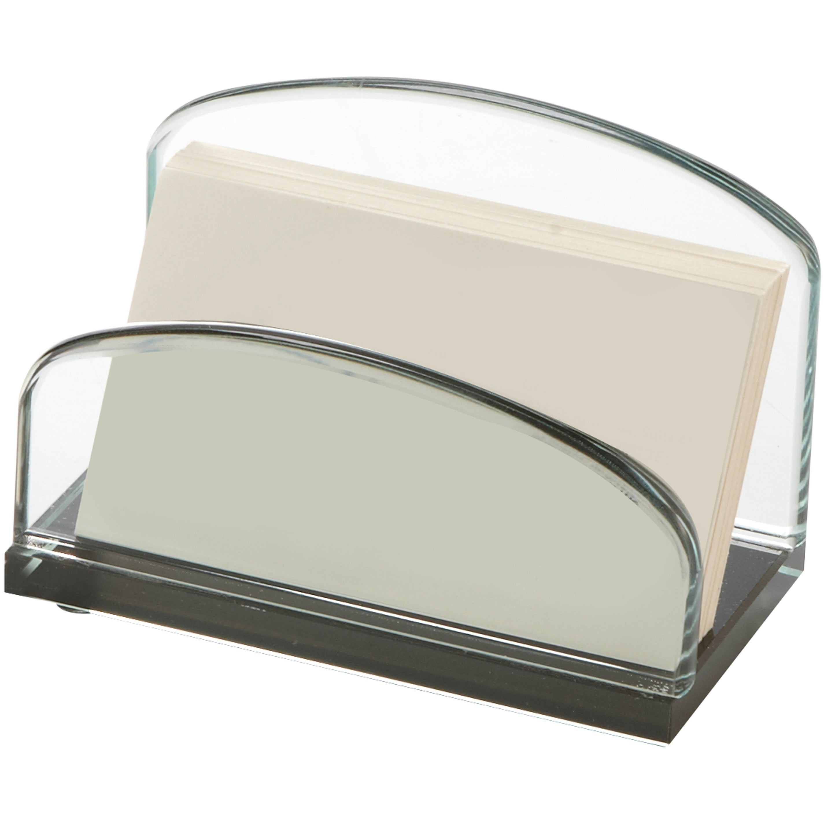 Storex Executive Business Card Holder, Glass - Free Shipping On ...