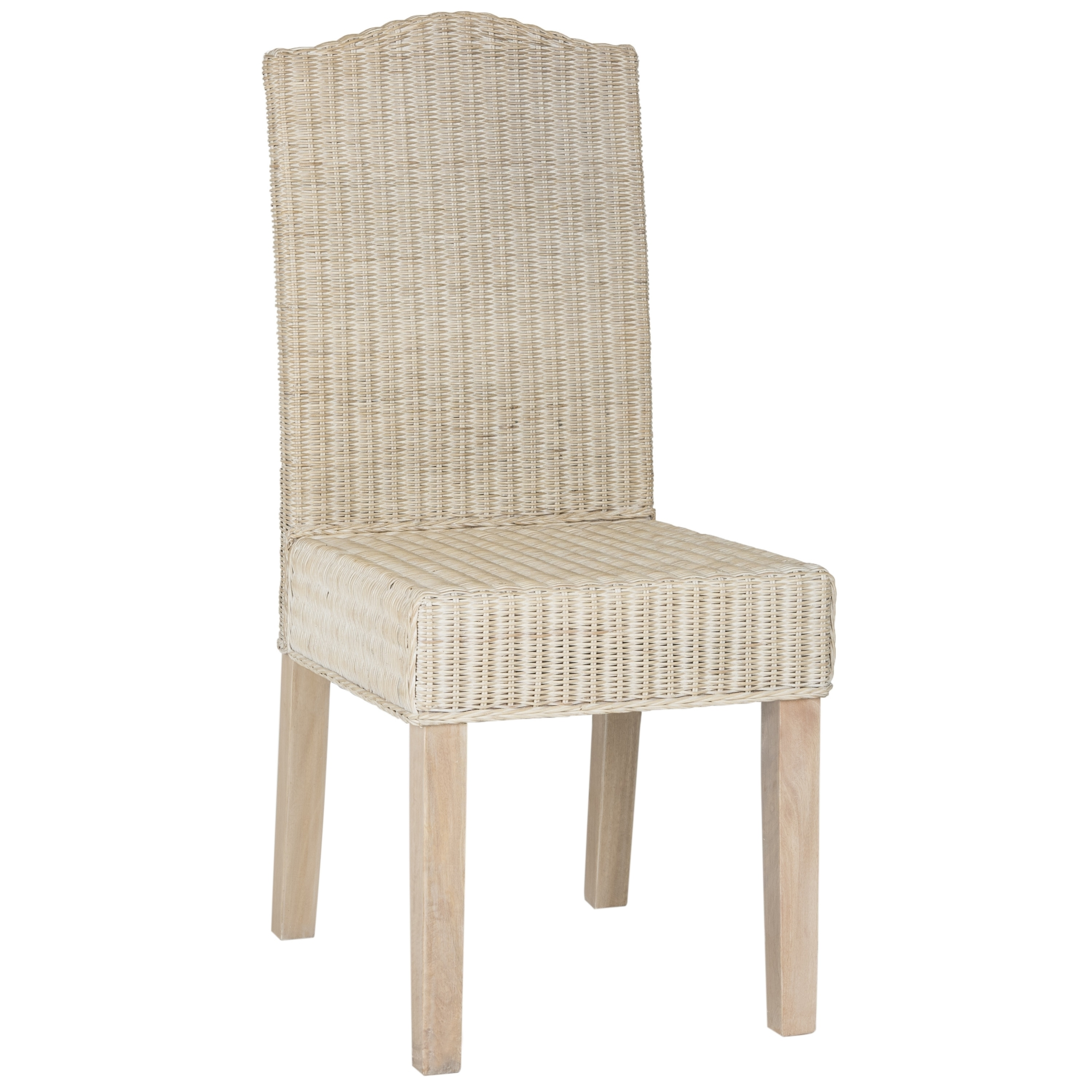 Safavieh Dining Rural Woven Odette White Washed Wicker Chairs Set Of 2 On Free Shipping Today 10856993