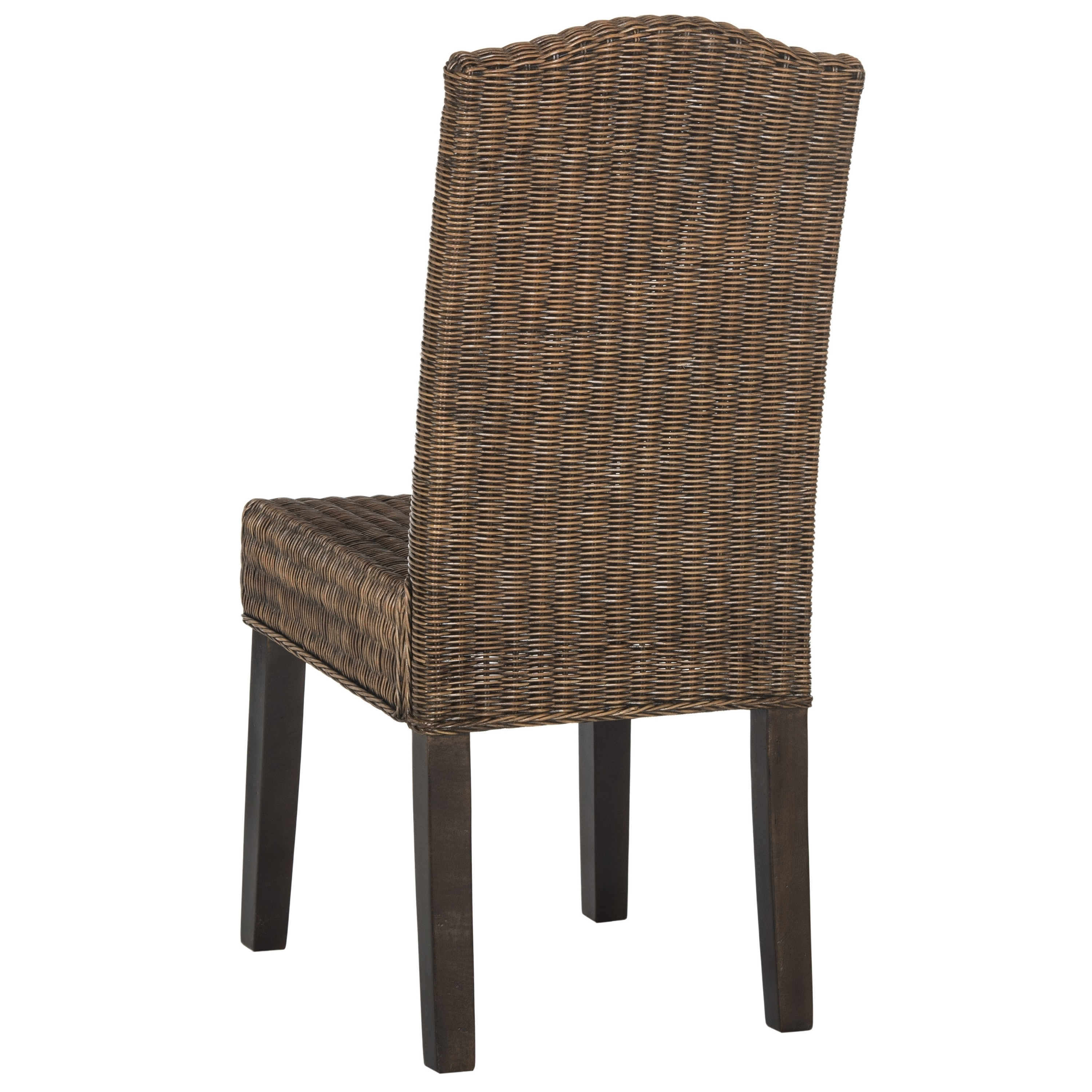 Safavieh rural woven dining odette brown multi wicker dining chairs set of 2