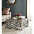 Safavieh Shila White Washed Rattan Table